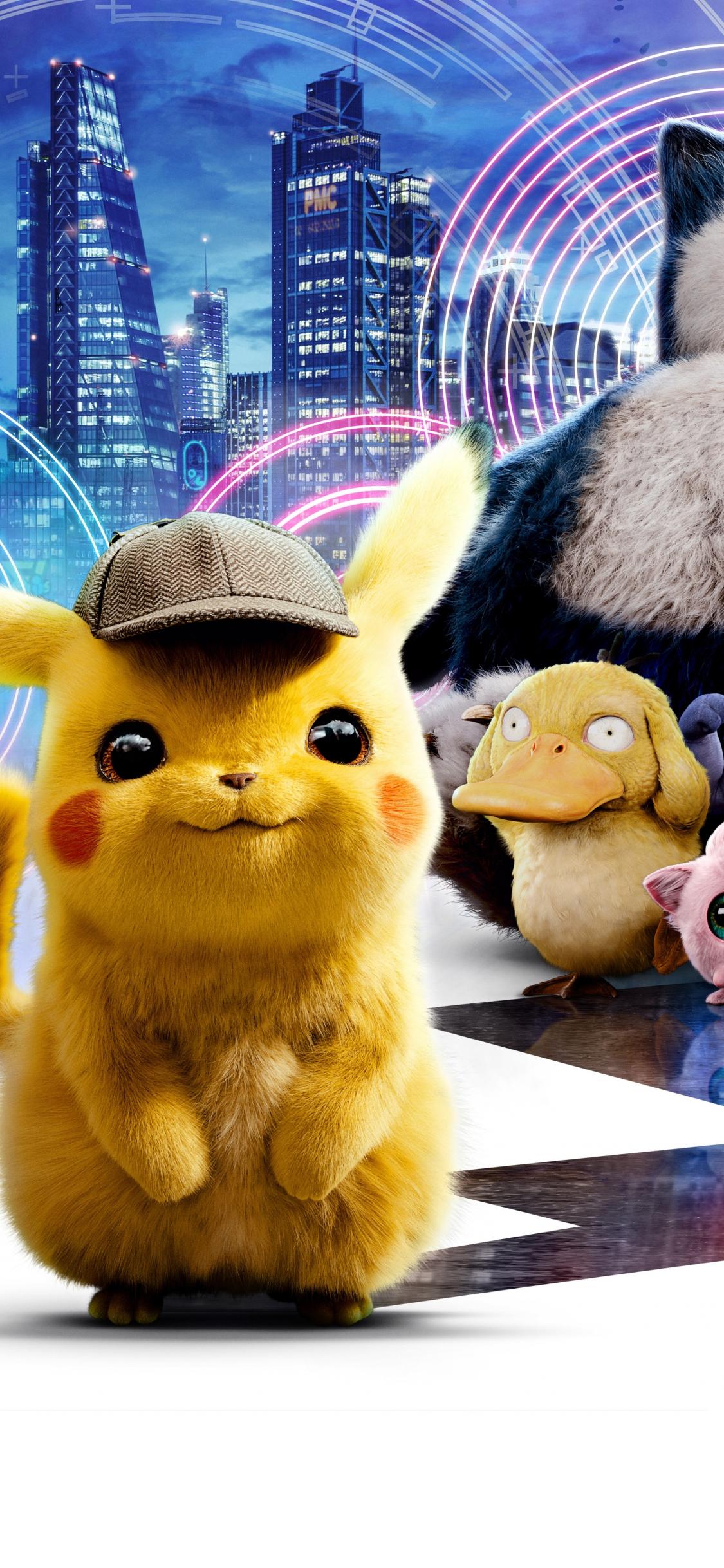 Download 1125x2436 Wallpaper Movie 2019 Pokémon Detective