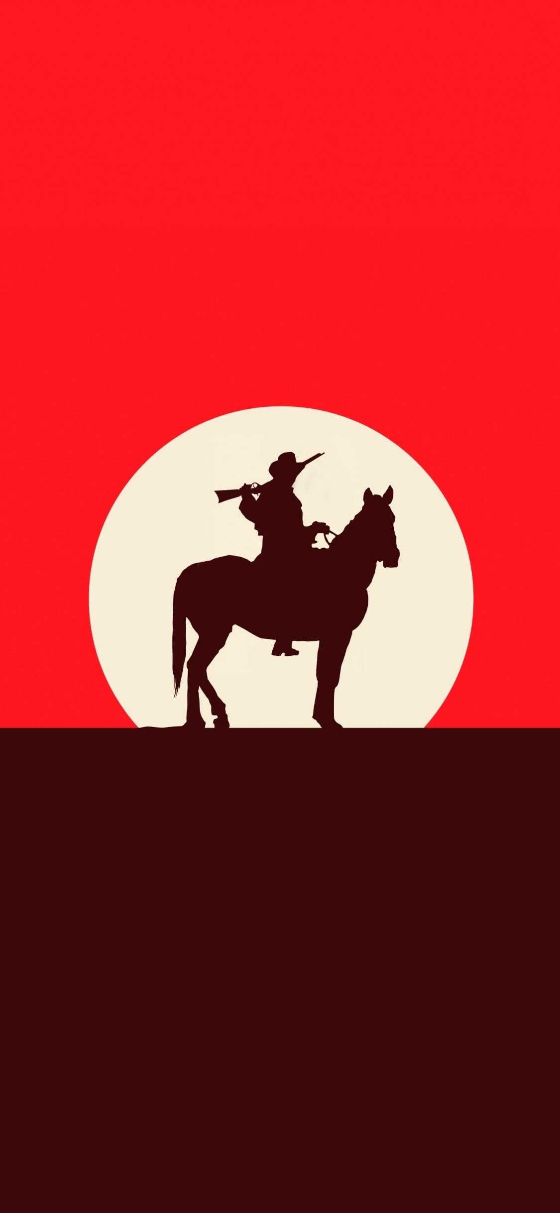 Download 1125x2436 Wallpaper Red Dead Redemption 2 Sunset