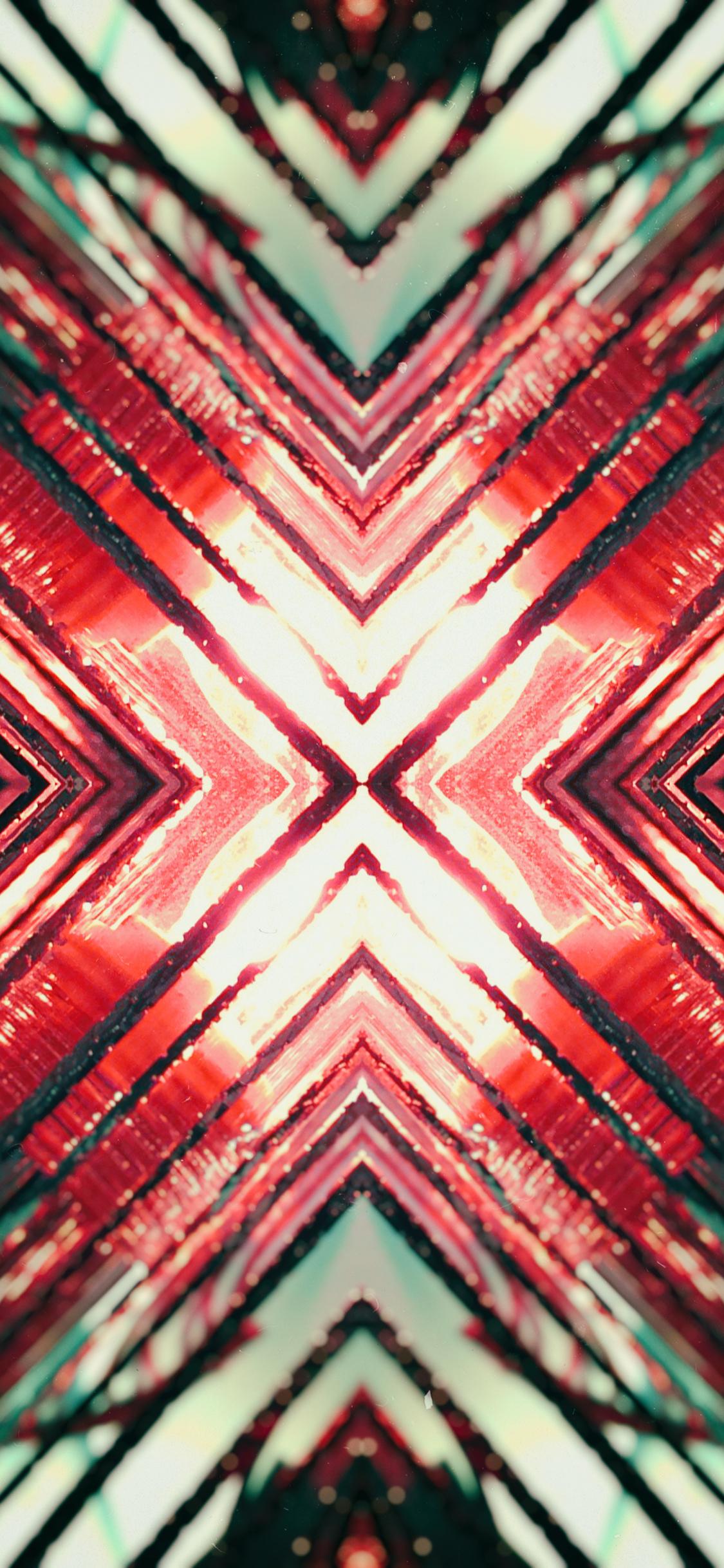 Download 1125x2436 Wallpaper Light Symmetric Pattern