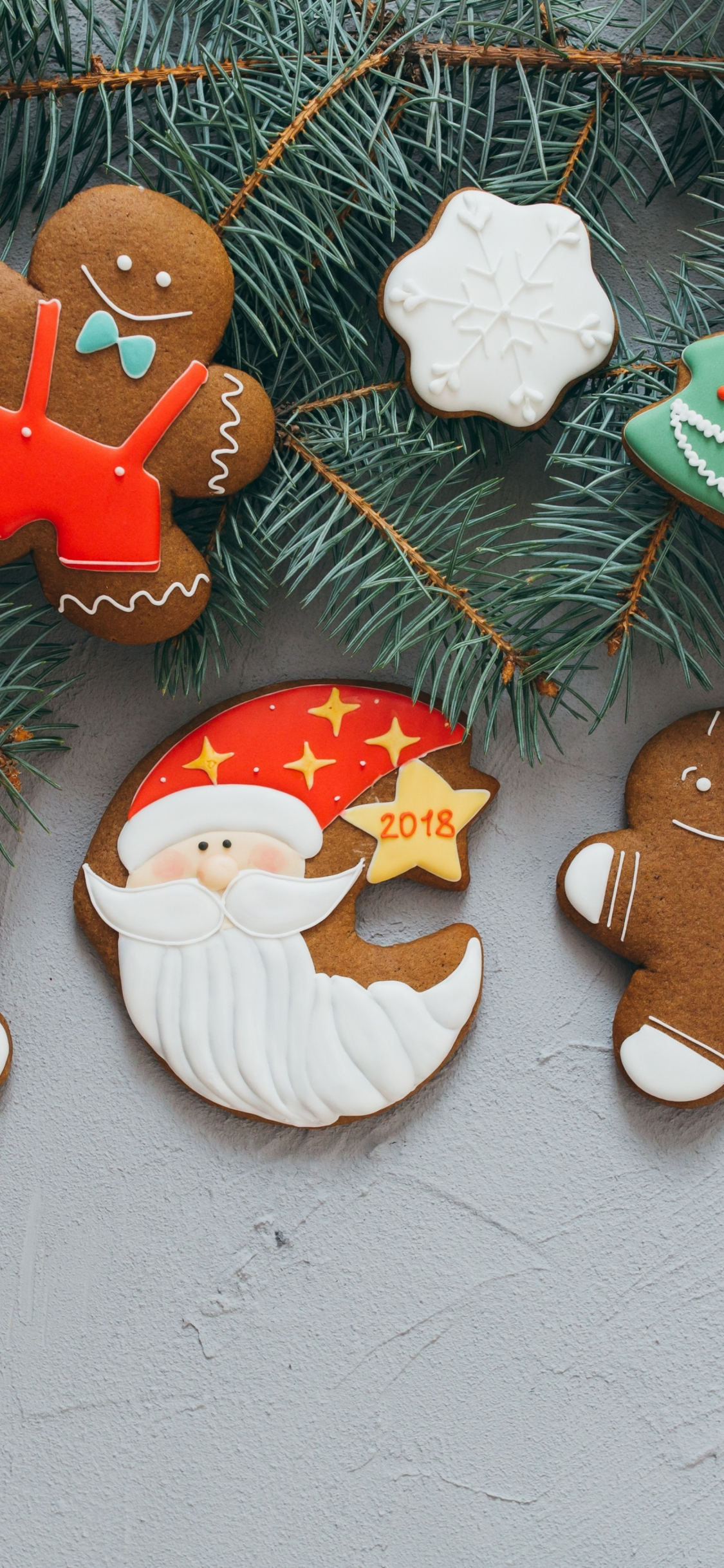 Download 1125x2436 Wallpaper Christmas Cookies Holiday