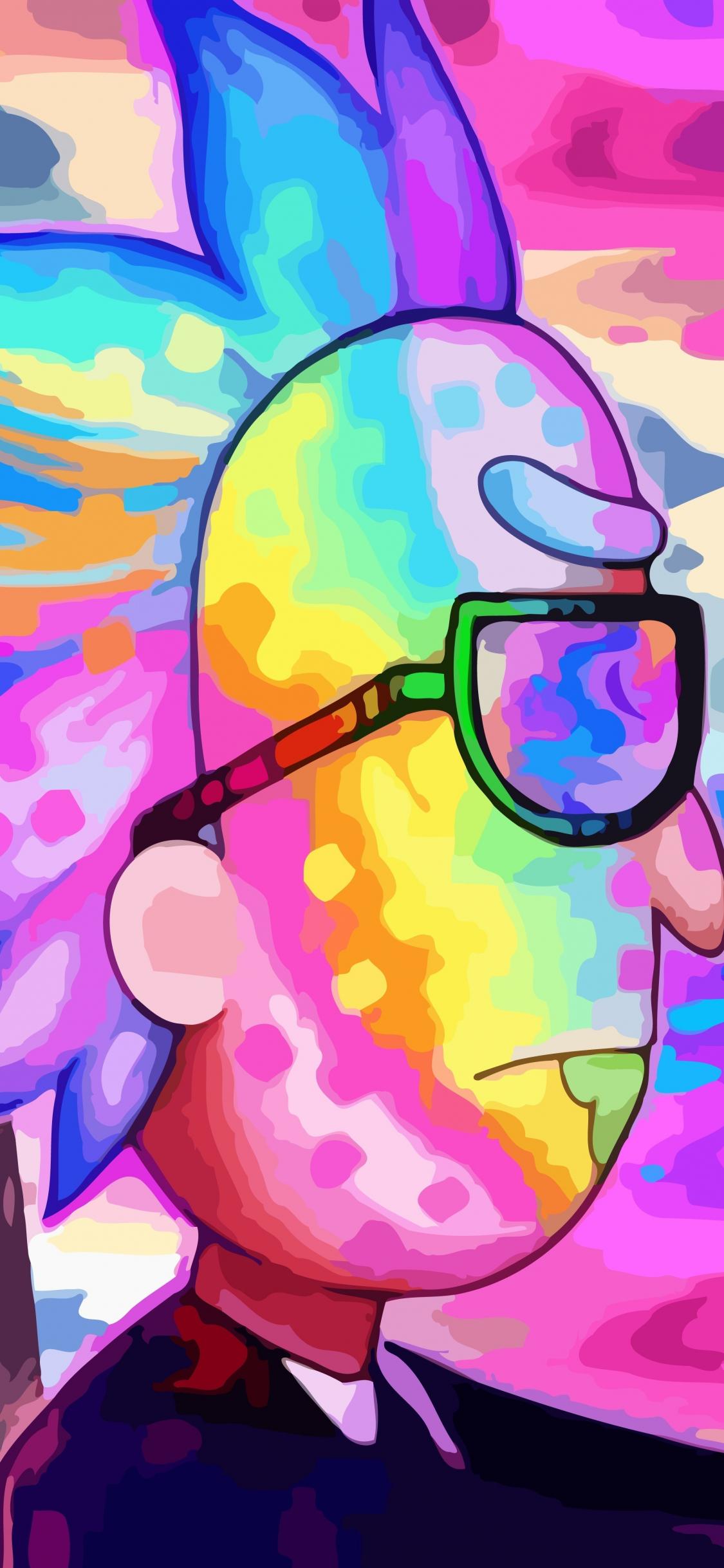 Download 1125x2436 Wallpaper Rick And Morty Rick Drive Colorful
