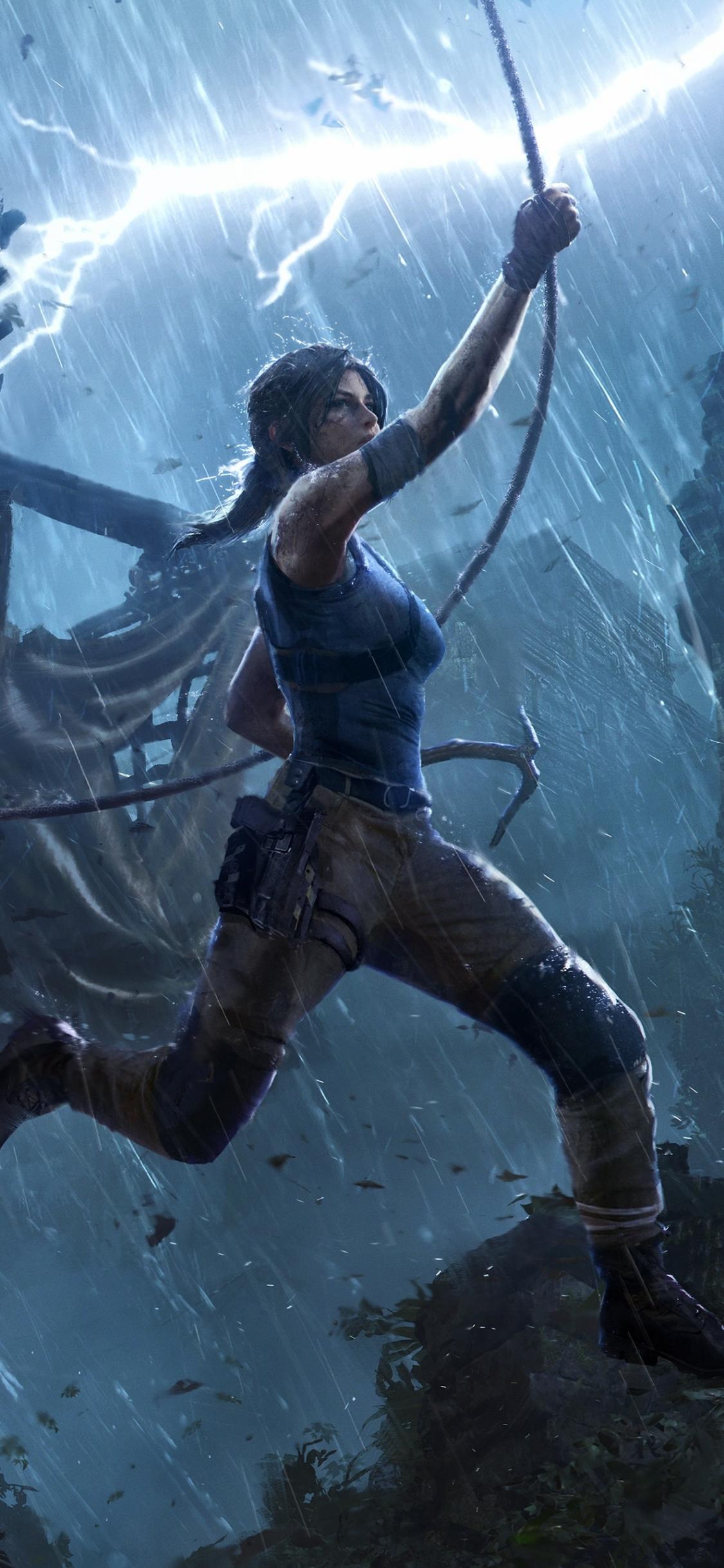 Download 1125x2436 Wallpaper Lara Croft Shadow Of The Tomb Raider