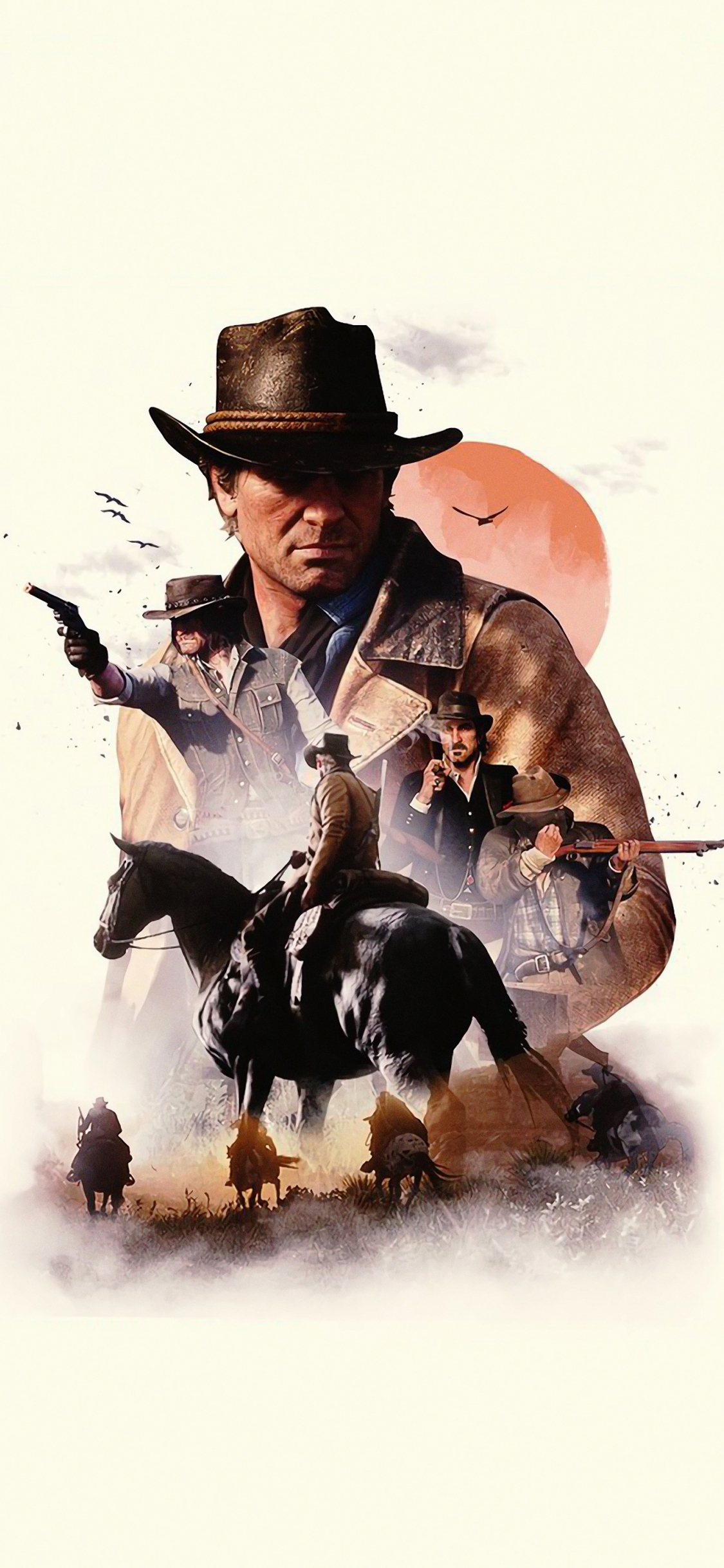 Download 1125x2436 Wallpaper Video Game Poster Red Dead