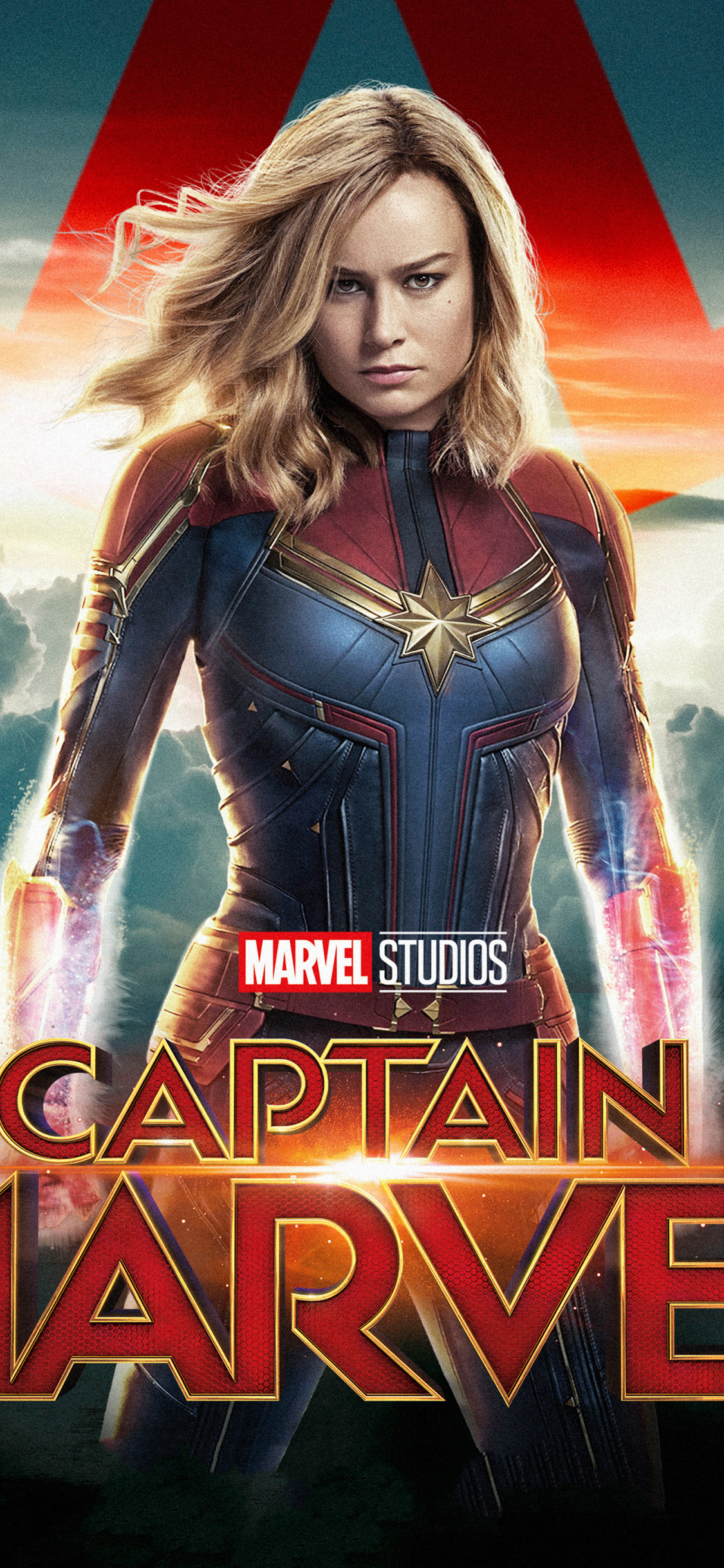 Download 1125x2436 Wallpaper Movie Superhero Actress Captain