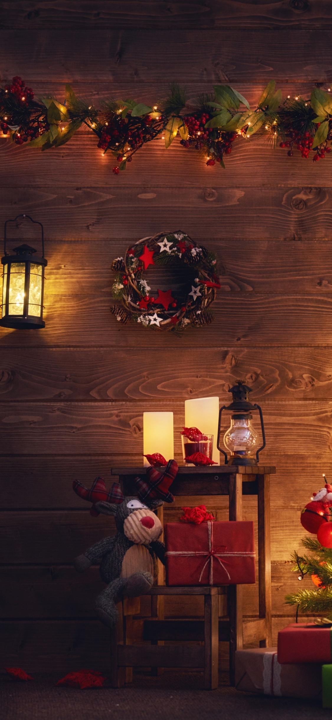Download 1125x2436 Wallpaper Christmas Tree Holiday