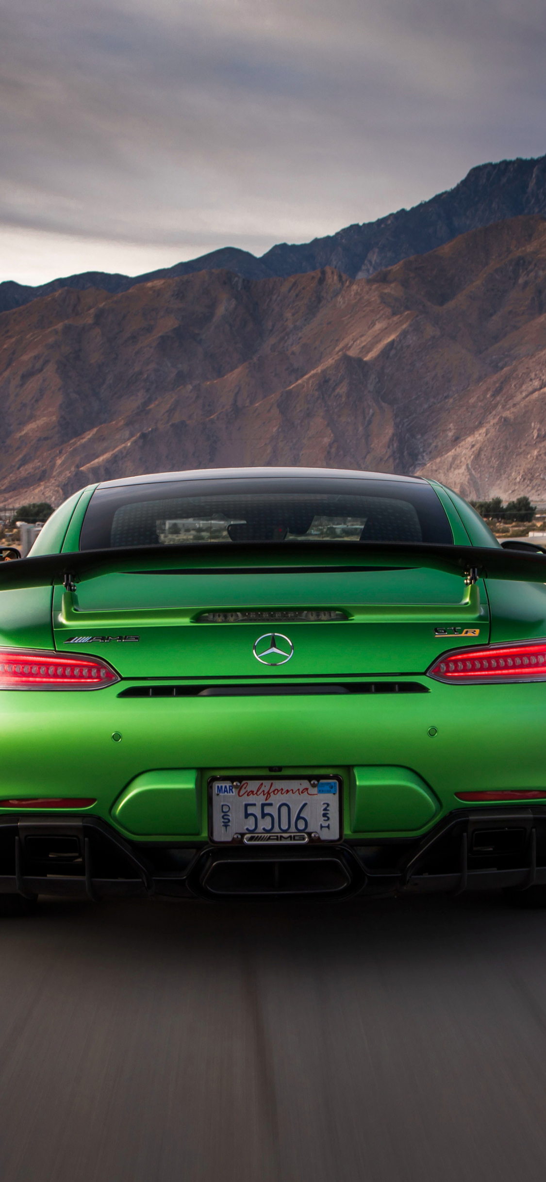 Download 1125x2436 Wallpaper Mercedes Amg Gt R Rear On