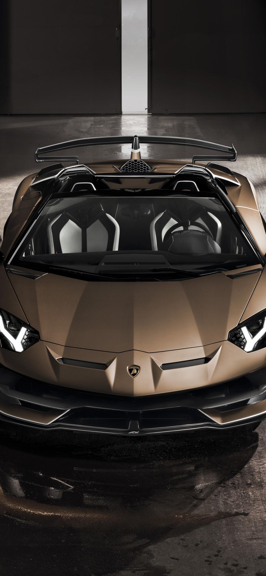 Download 1125x2436 Wallpaper Lamborghini Aventador Svj