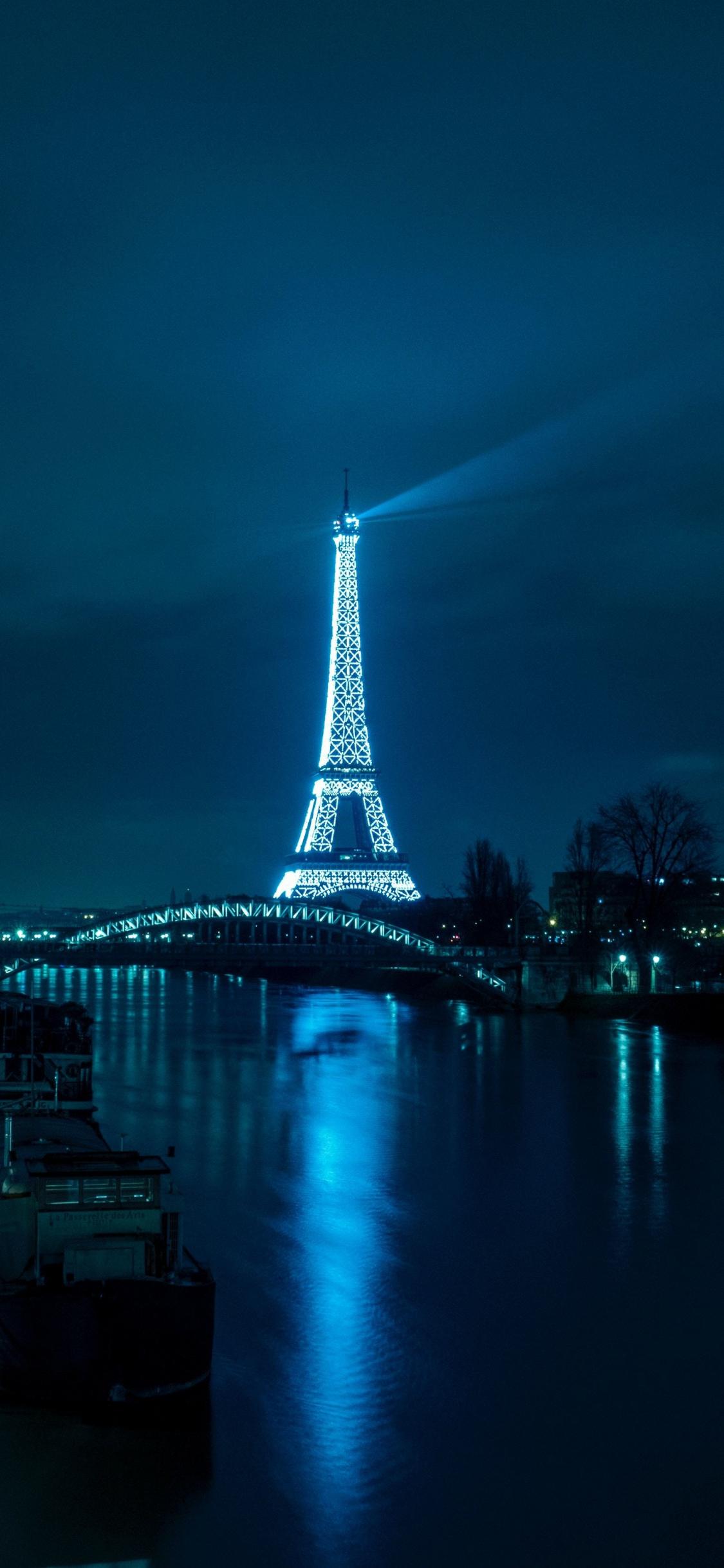 Download 1125x2436 Wallpaper Paris Eiffel Tower Night City Iphone X 1125x2436 Hd Image Background 5587