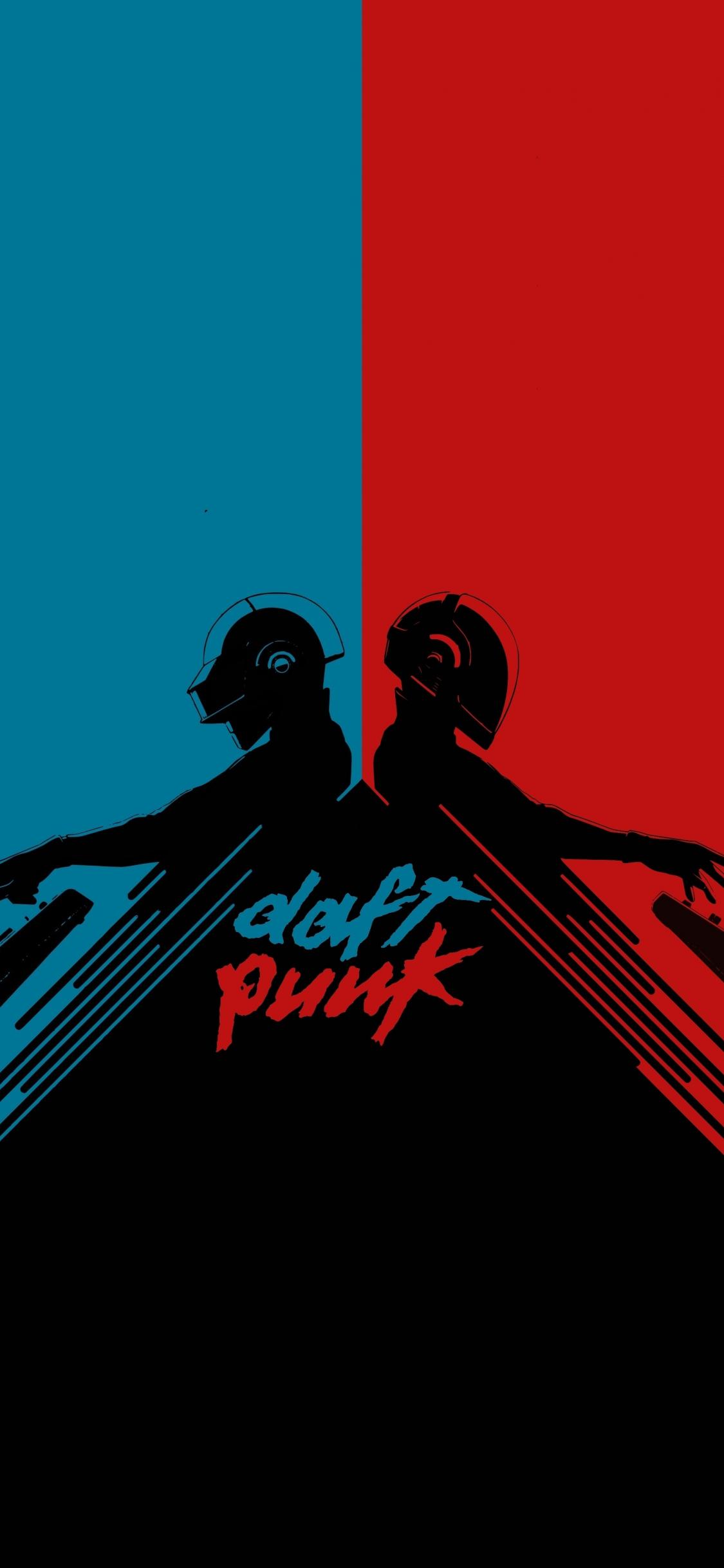 Download 1125x2436 Wallpaper Daft Punk Musician Minimal