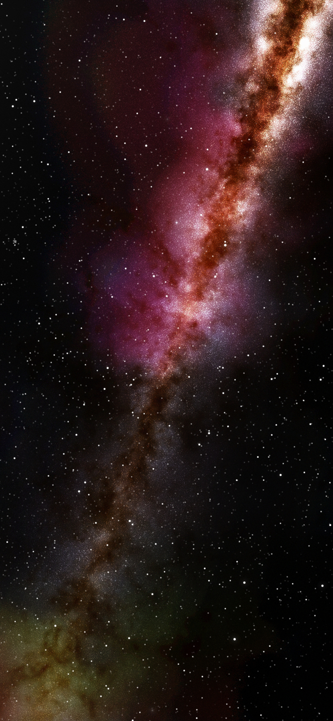 Download 1125x2436 Wallpaper Cosmos Colorful Galaxy Stars