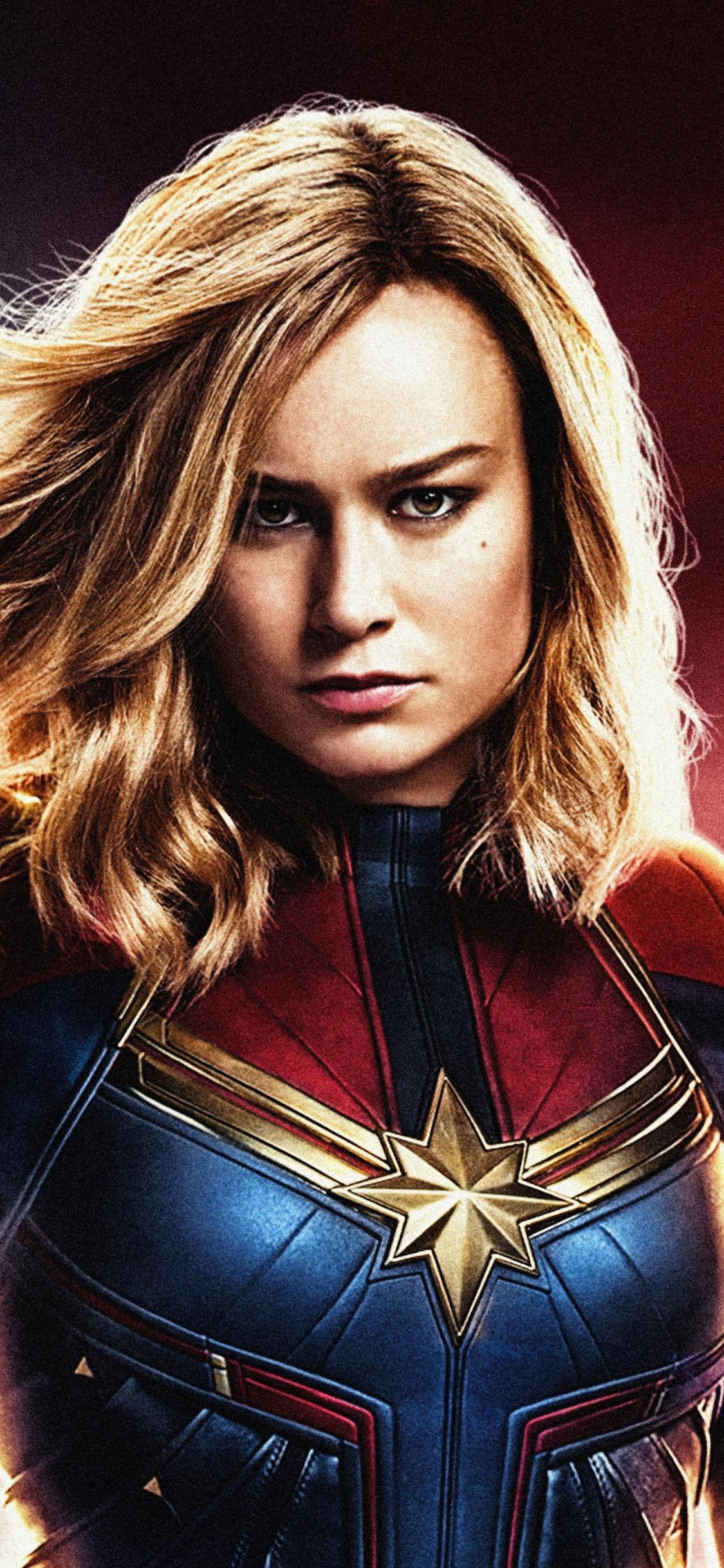 Download 1125x2436 wallpaper confident, superhero, captain ...