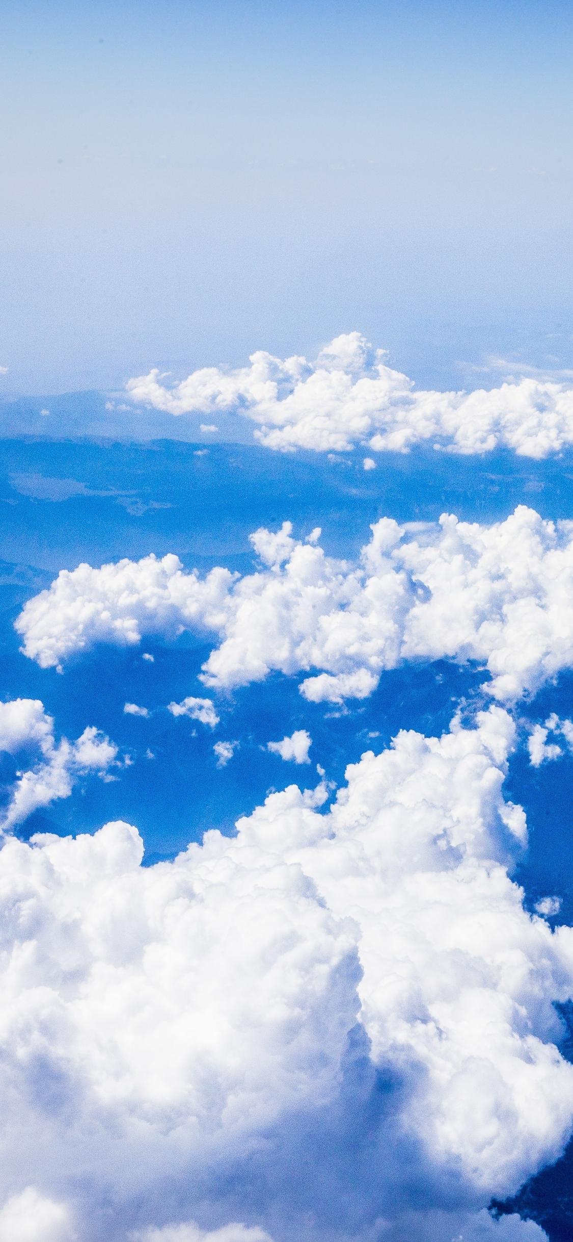 quality design 23cf5 1c6f1 Download 1125x2436 wallpaper white clouds, sky, nature, blue sky ...