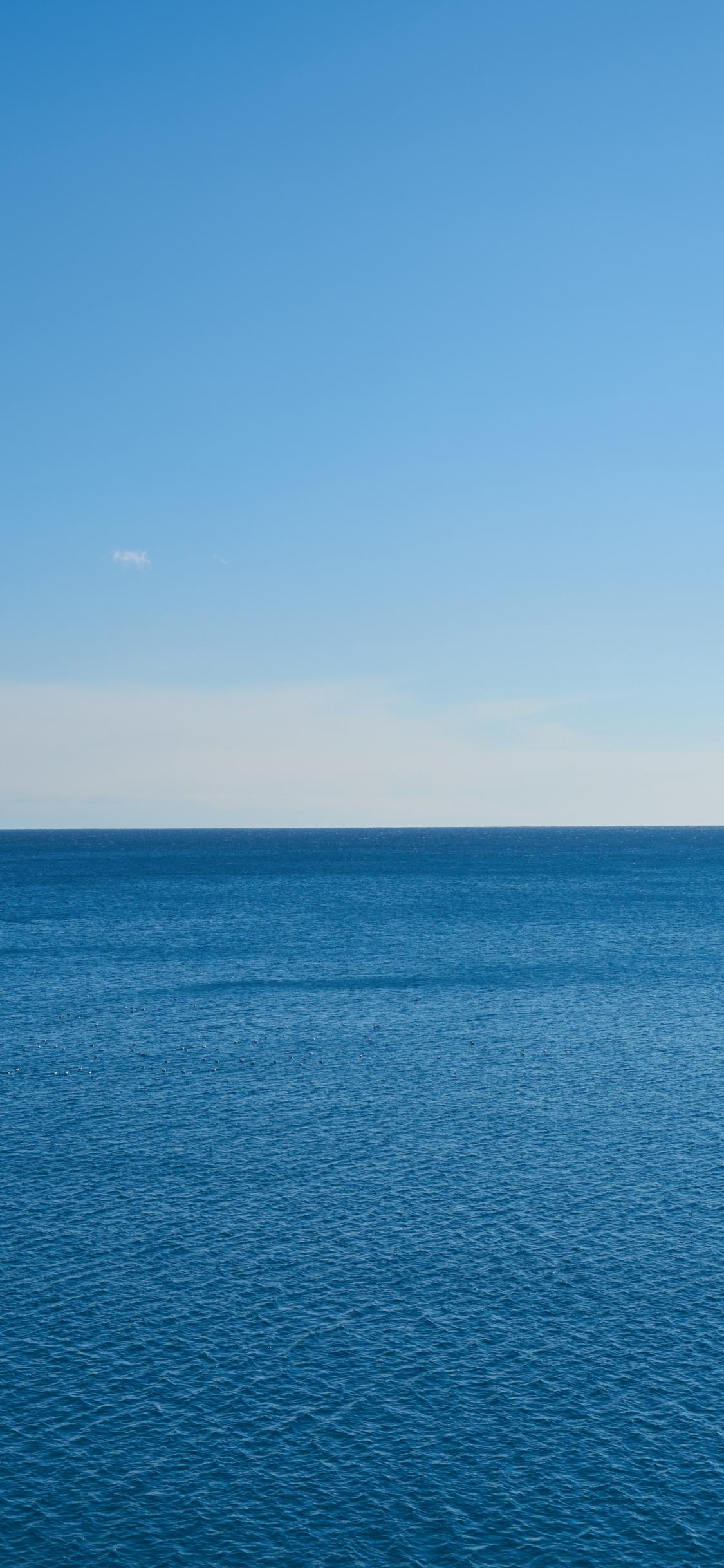 Deep, blue sea, nature, 1125x2436 wallpaper