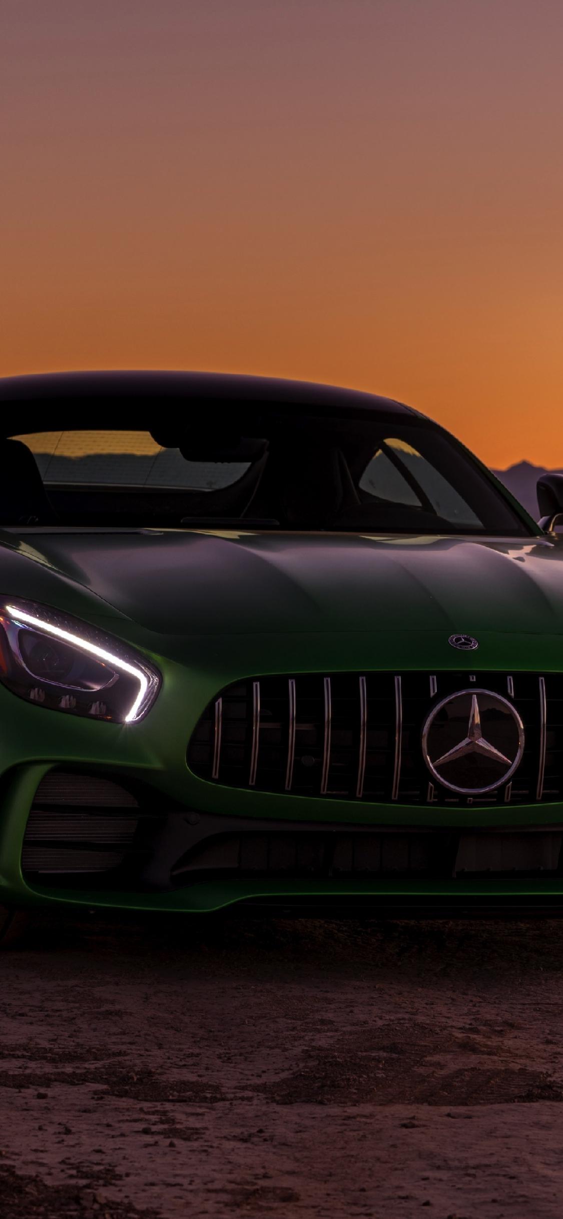 Download 1125x2436 Wallpaper The Mercedes Amg Gt R Sports Car