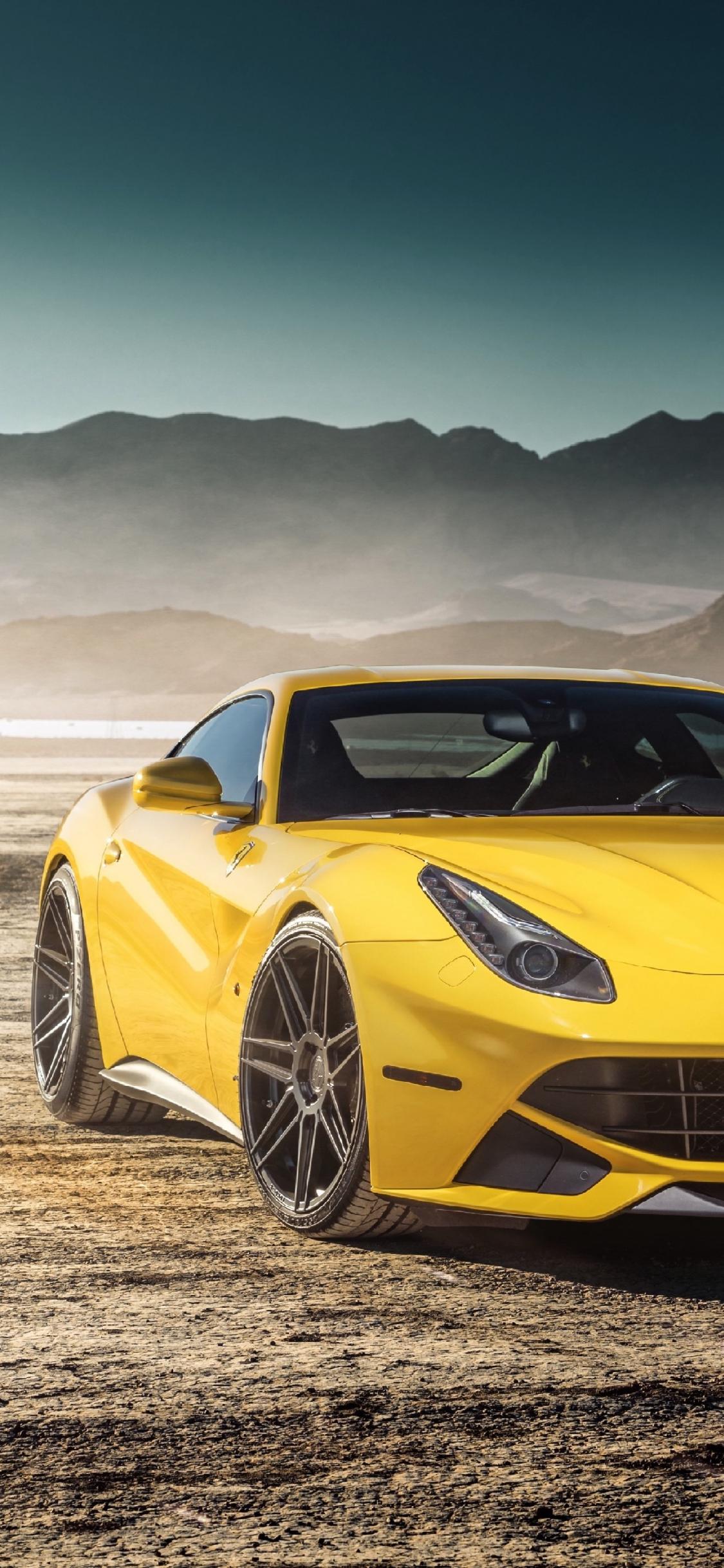 Download 1125x2436 Wallpaper Luxurious Sports Car Ferrari