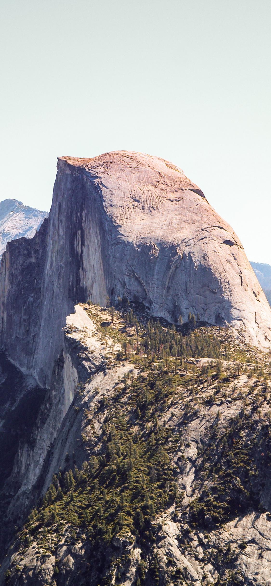Download 1125x2436 Wallpaper Half Dome Yosemite Valley