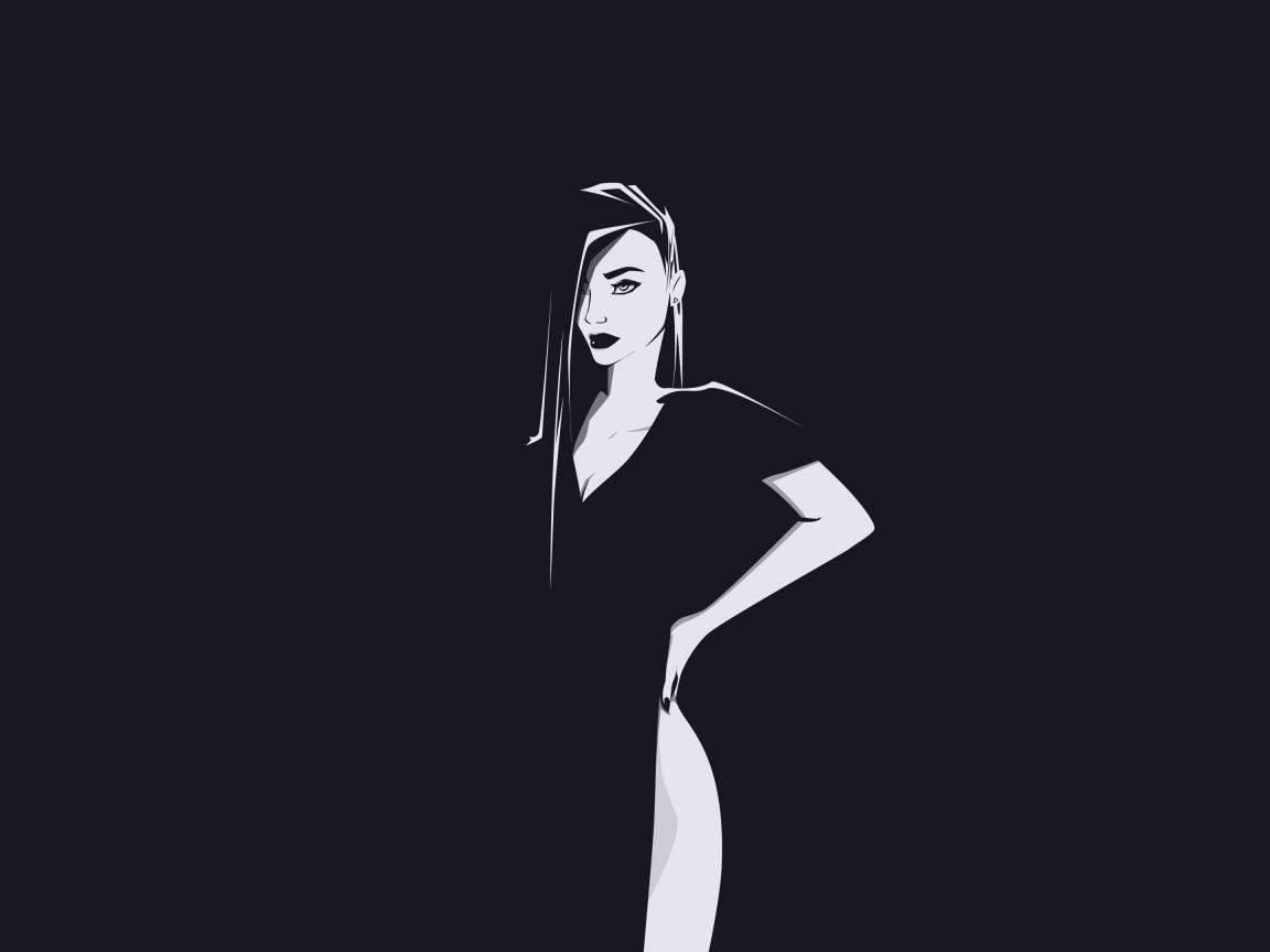 Minimal, urban woman, art, 1152x864 wallpaper