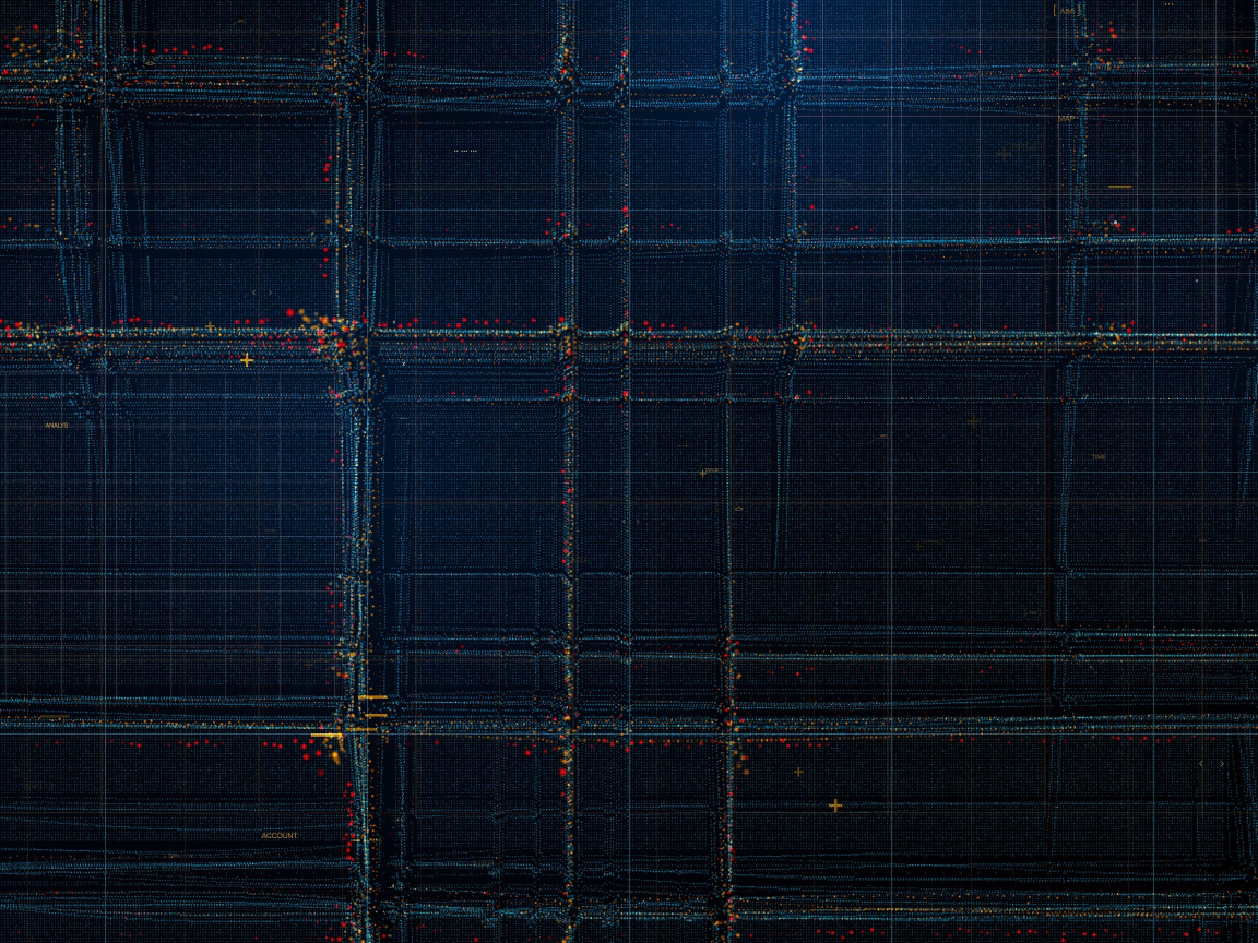 Particles, structure, lines, pattern, dark, 1152x864 wallpaper