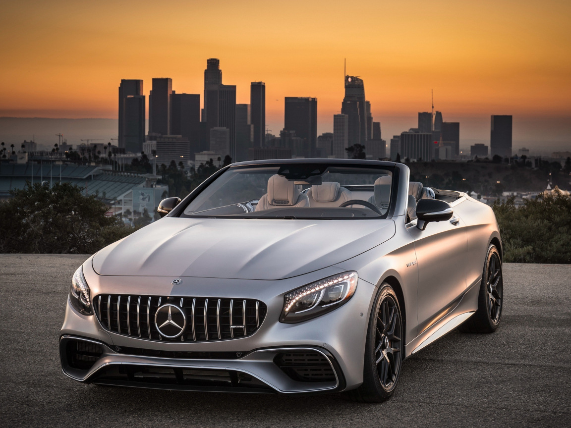 Mercedes amg s 63 4matic cabriolet 4k
