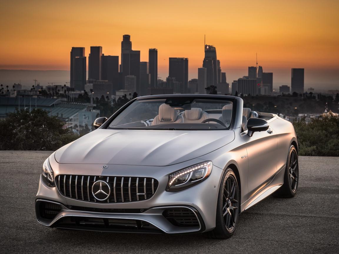 Mercedes-AMG S63 4MATIC Cabriolet, sports car, 1152x864 wallpaper