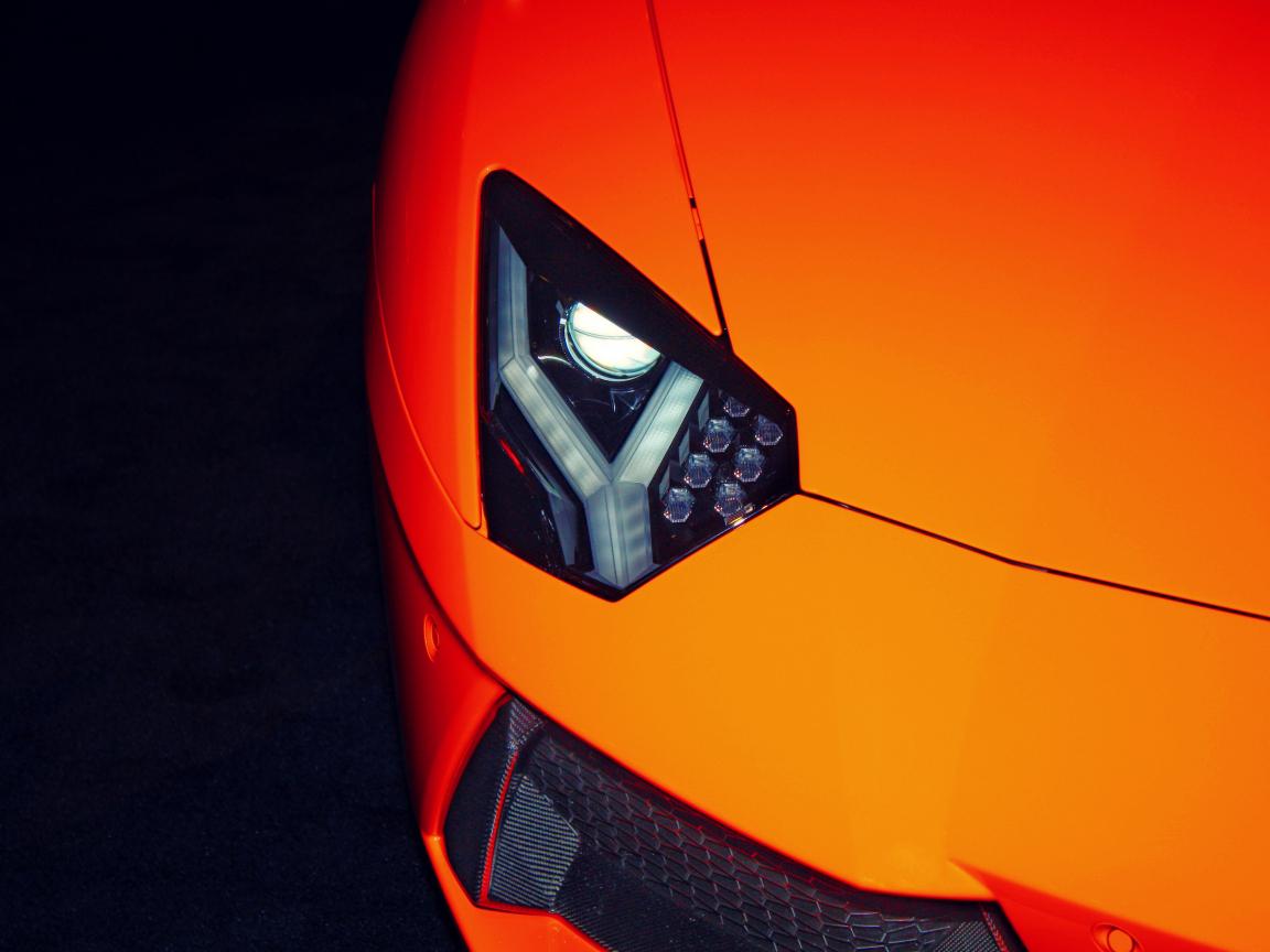 Exotic car, Lamborghini, headlight, 1152x864 wallpaper