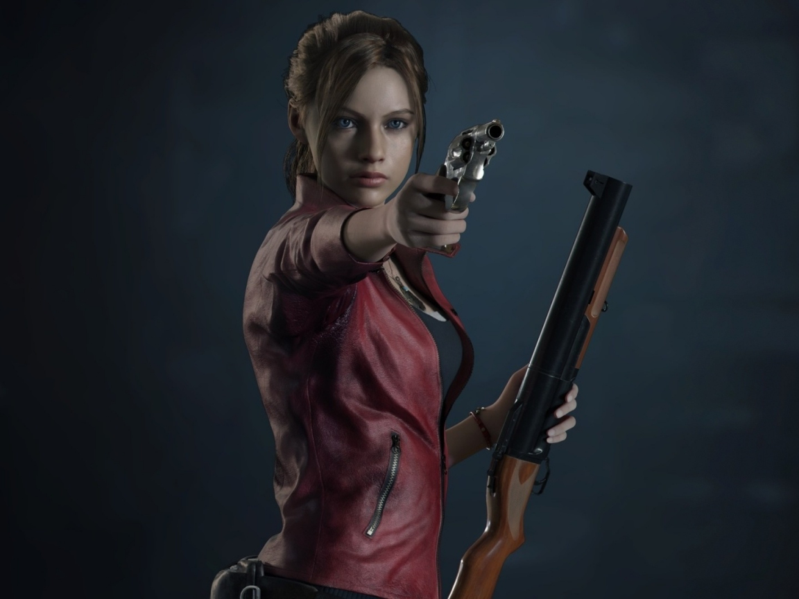 Resident Evil 2, video game, Claire Redfield, 1152x864 wallpaper