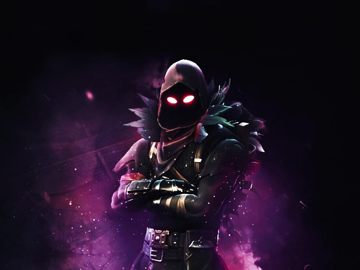 Download 1152x864 Wallpaper 2019 Game Raven Fortnite