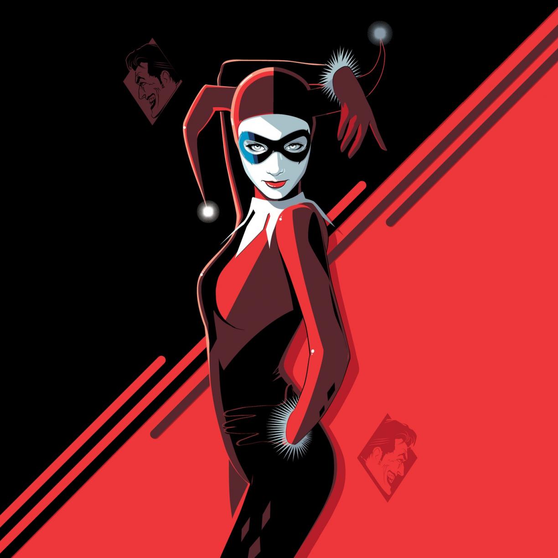 Harley Quinn, minimal, villain, minimal, art, 1224x1224 wallpaper
