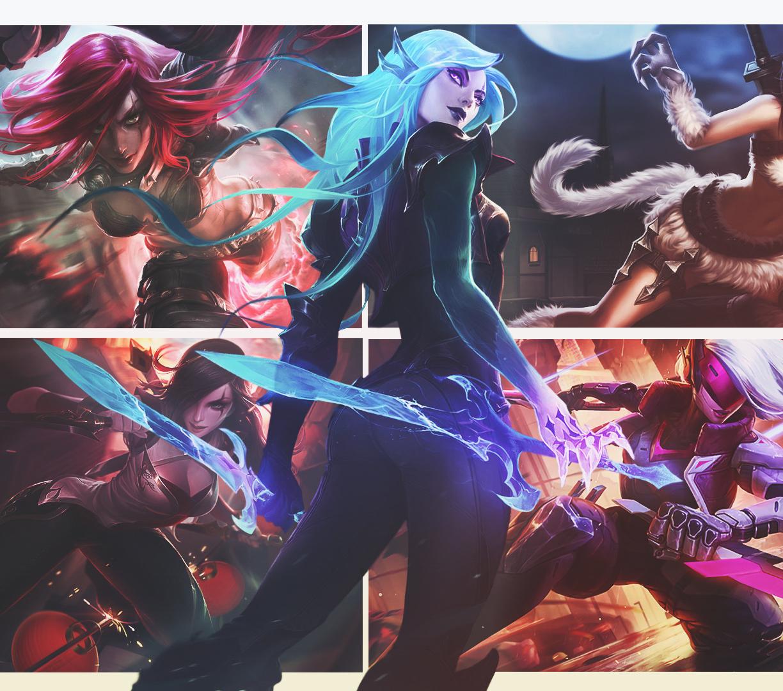 Desktop Wallpaper Katarina League Of Legends Game Hd Image
