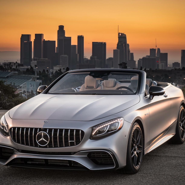 Mercedes-AMG S63 4MATIC Cabriolet, sports car, 1224x1224 wallpaper