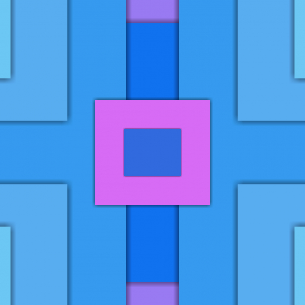 Squares, abstract, material design, 1224x1224 wallpaper