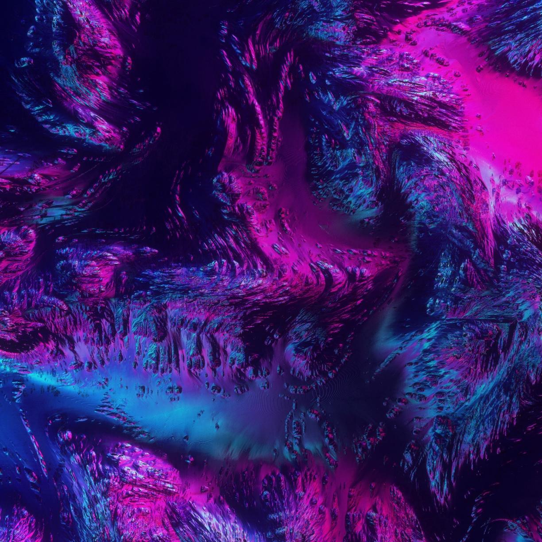 Desktop Wallpaper Neon, Texture, Abstract, Dark, Art, Hd
