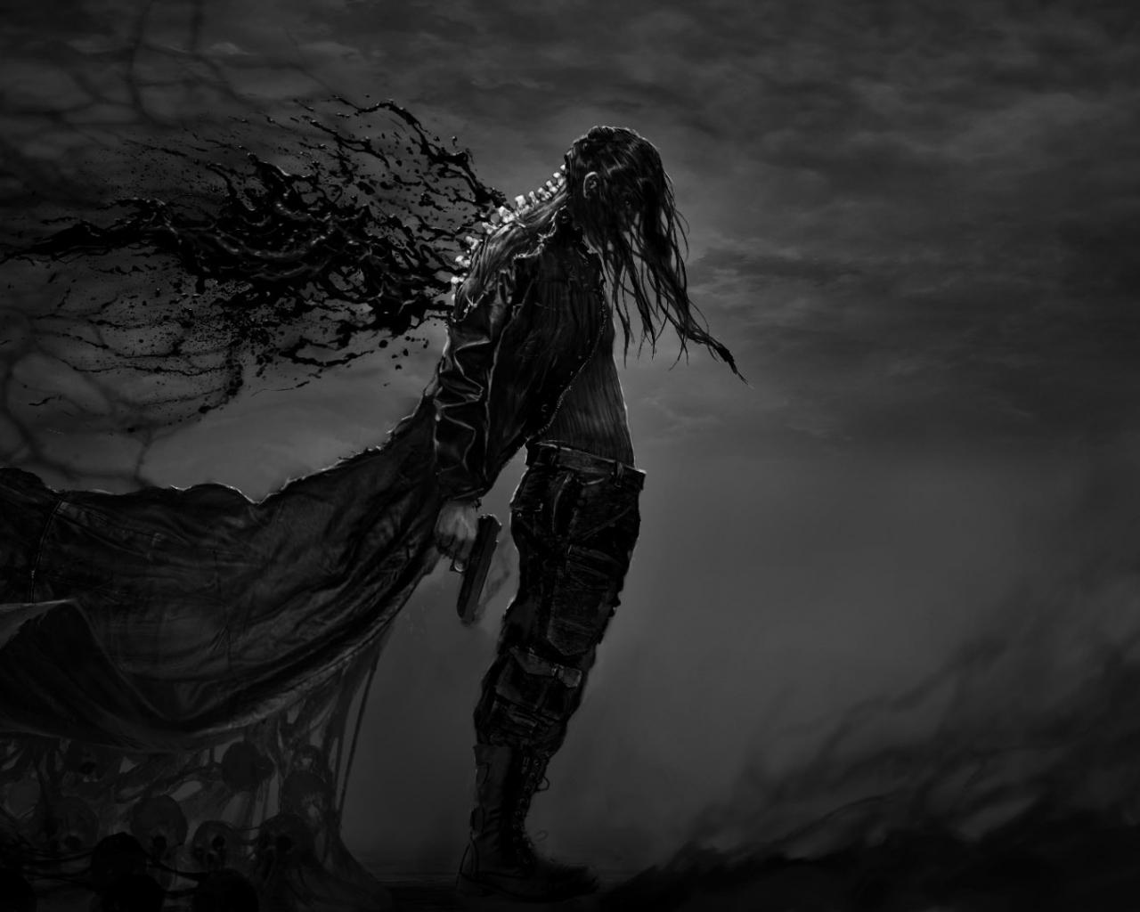 Dark Fantasy Hatred Warrior Video Game Art 1280x1024 Wallpaper