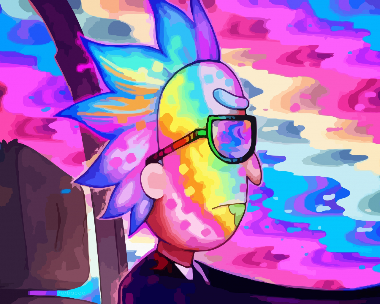 Download 1280x1024 wallpaper rick and morty rick drive colorful standard 5 4 fullscreen - Rick and morty download ...