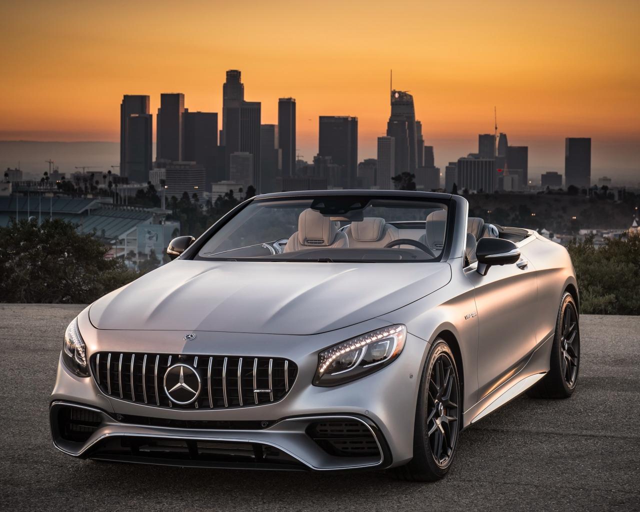Mercedes-AMG S63 4MATIC Cabriolet, sports car, 1280x1024 wallpaper