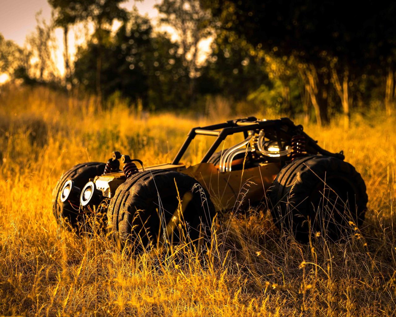 Download 1280x1024 Wallpaper Pubg Buggy Vehicle Landscape
