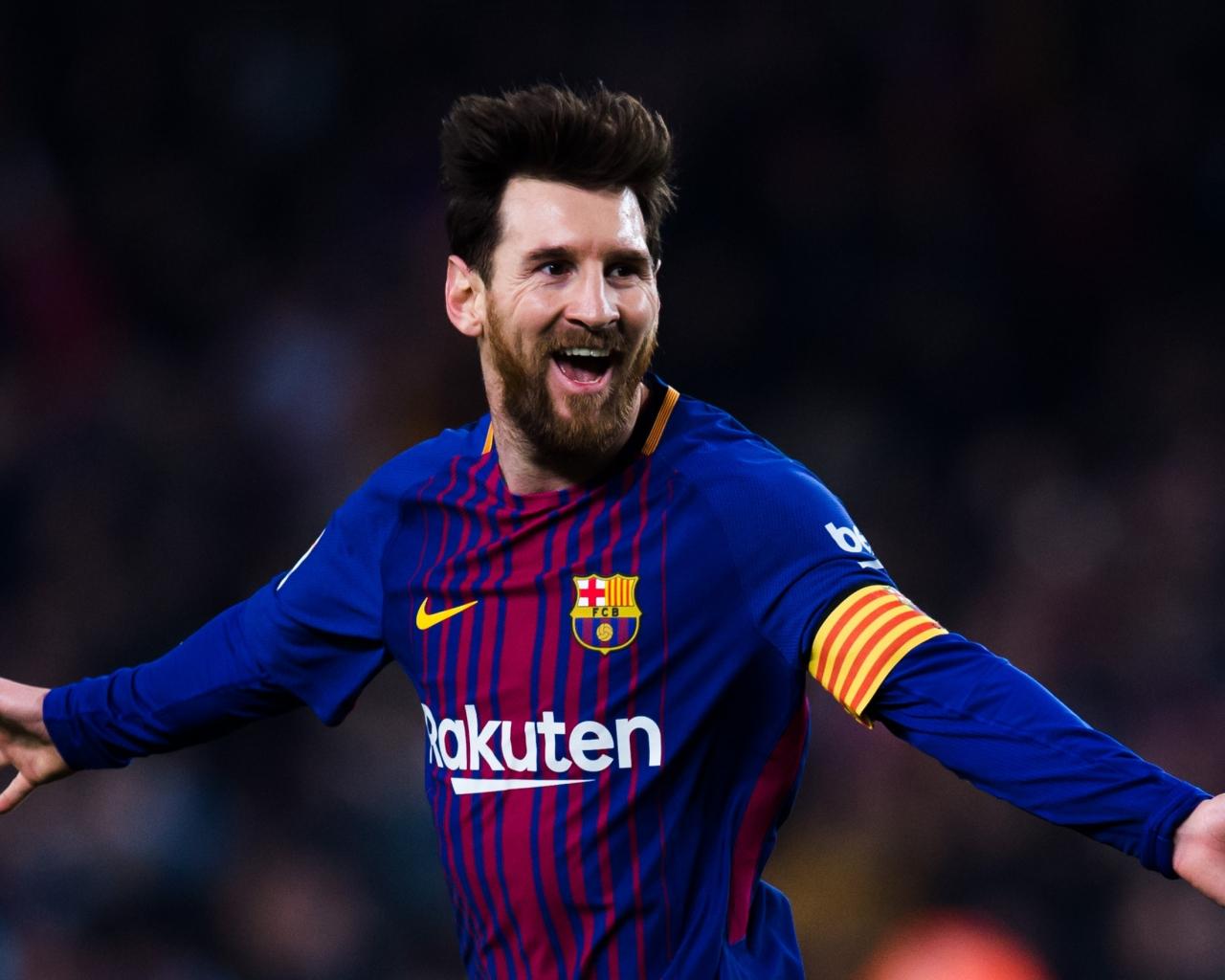 Download 1280x1024 Wallpaper Lionel Messi Celebration Goal Football Sports Standard 5 4 Fullscreen 1280x1024 Hd Image Background 9565