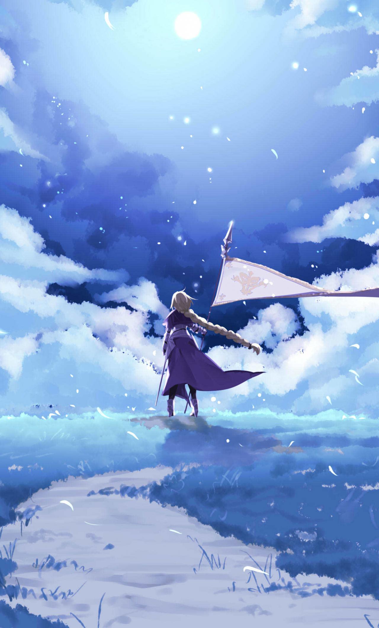 Download 1280x2120 Wallpaper Fate Grand Order Ruler Anime Girl