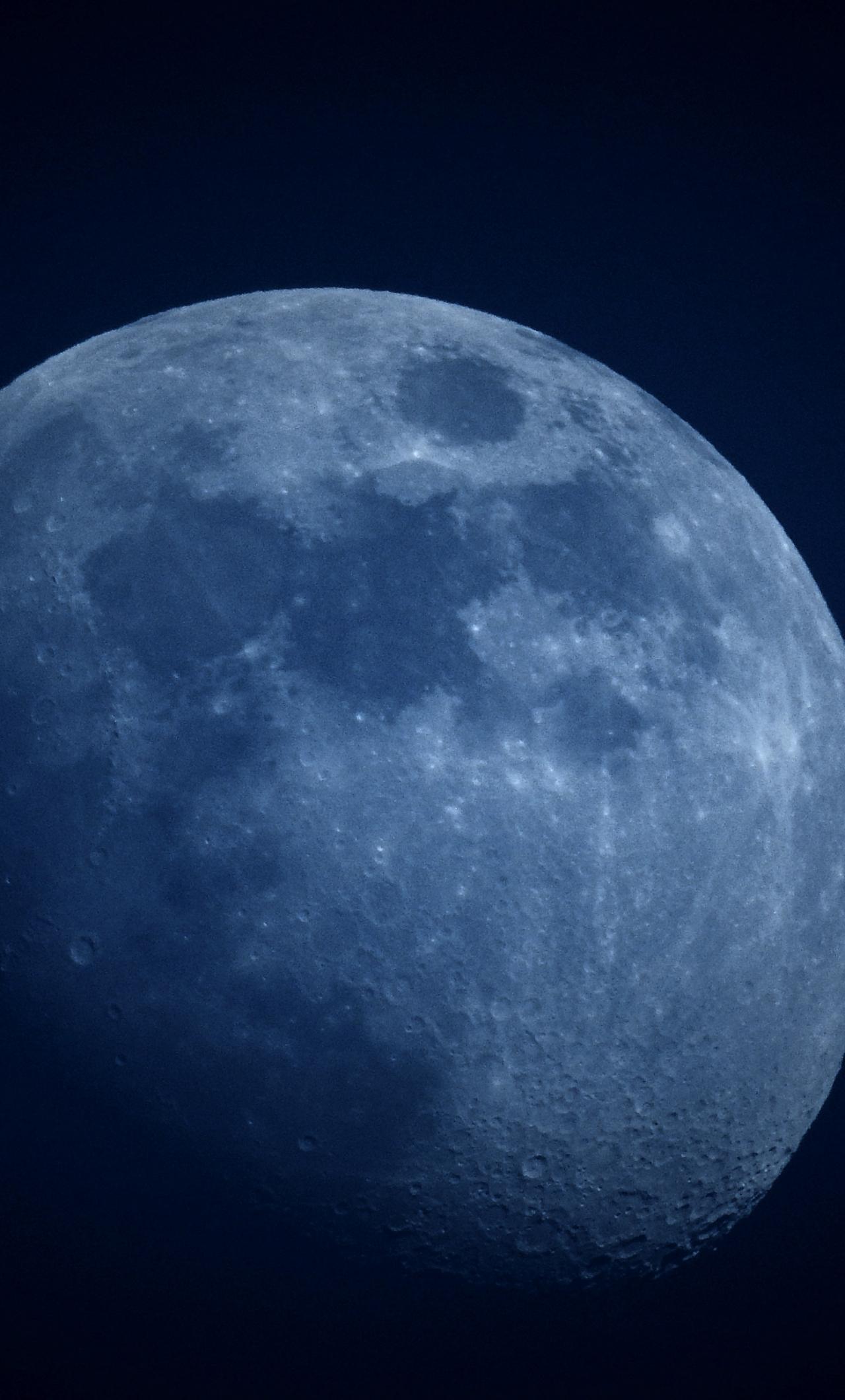 Download 1280x2120 Wallpaper Moon Night Space Iphone 6