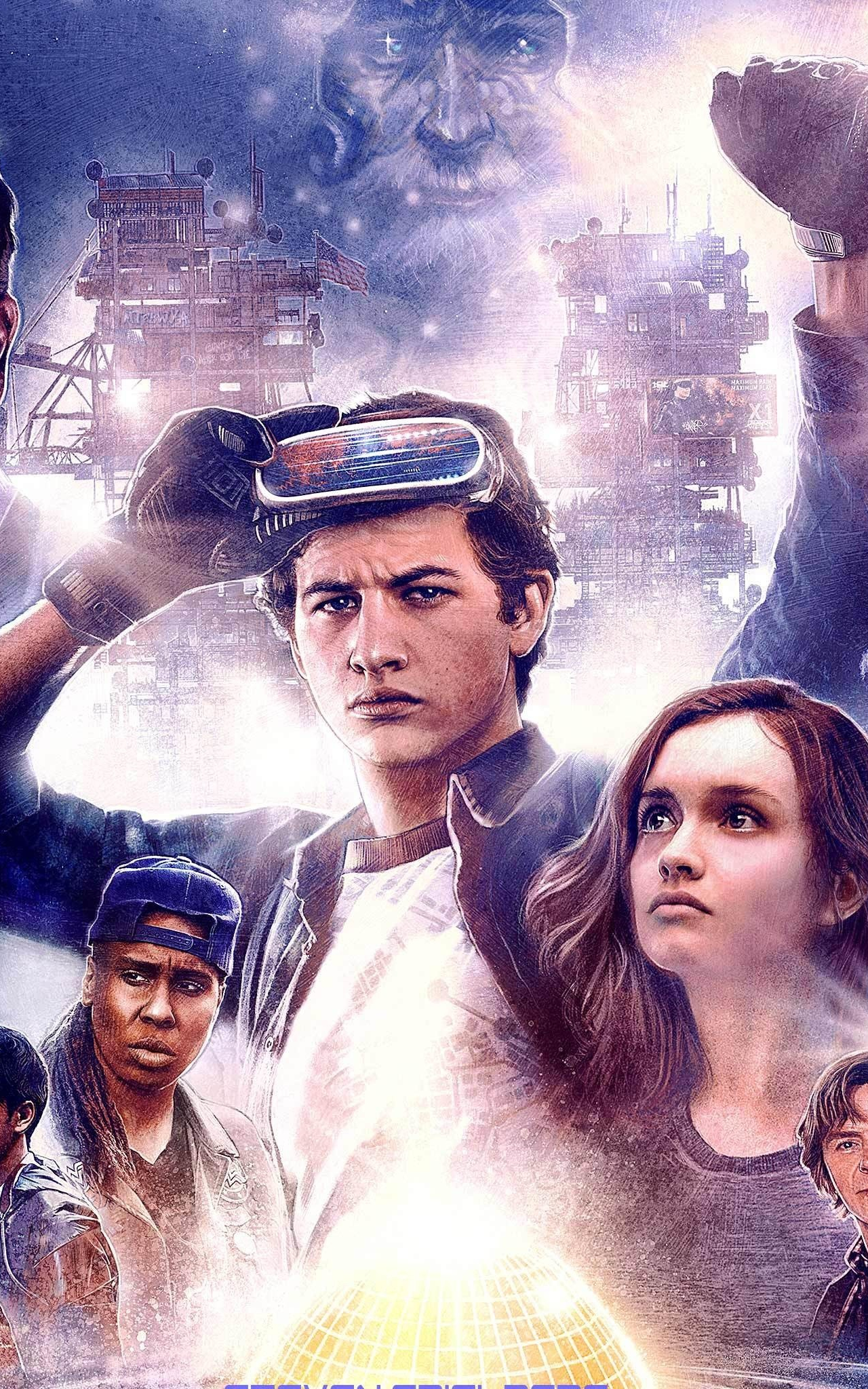 Download 1280x2120 Wallpaper Ready Player One 2018 Movie 80 S