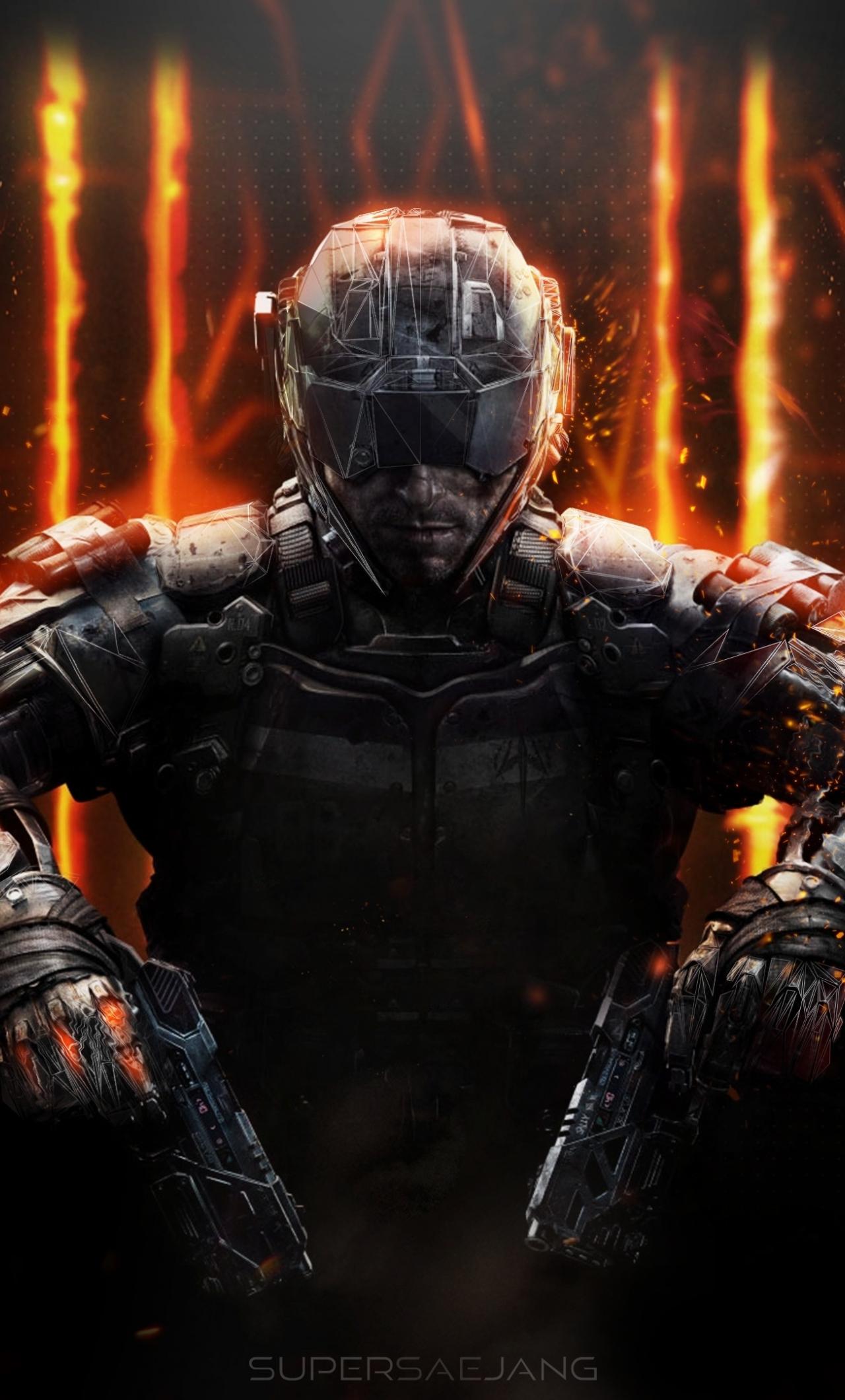 Download 1280x2120 Wallpaper Call Of Duty Black Ops Iii Soldier