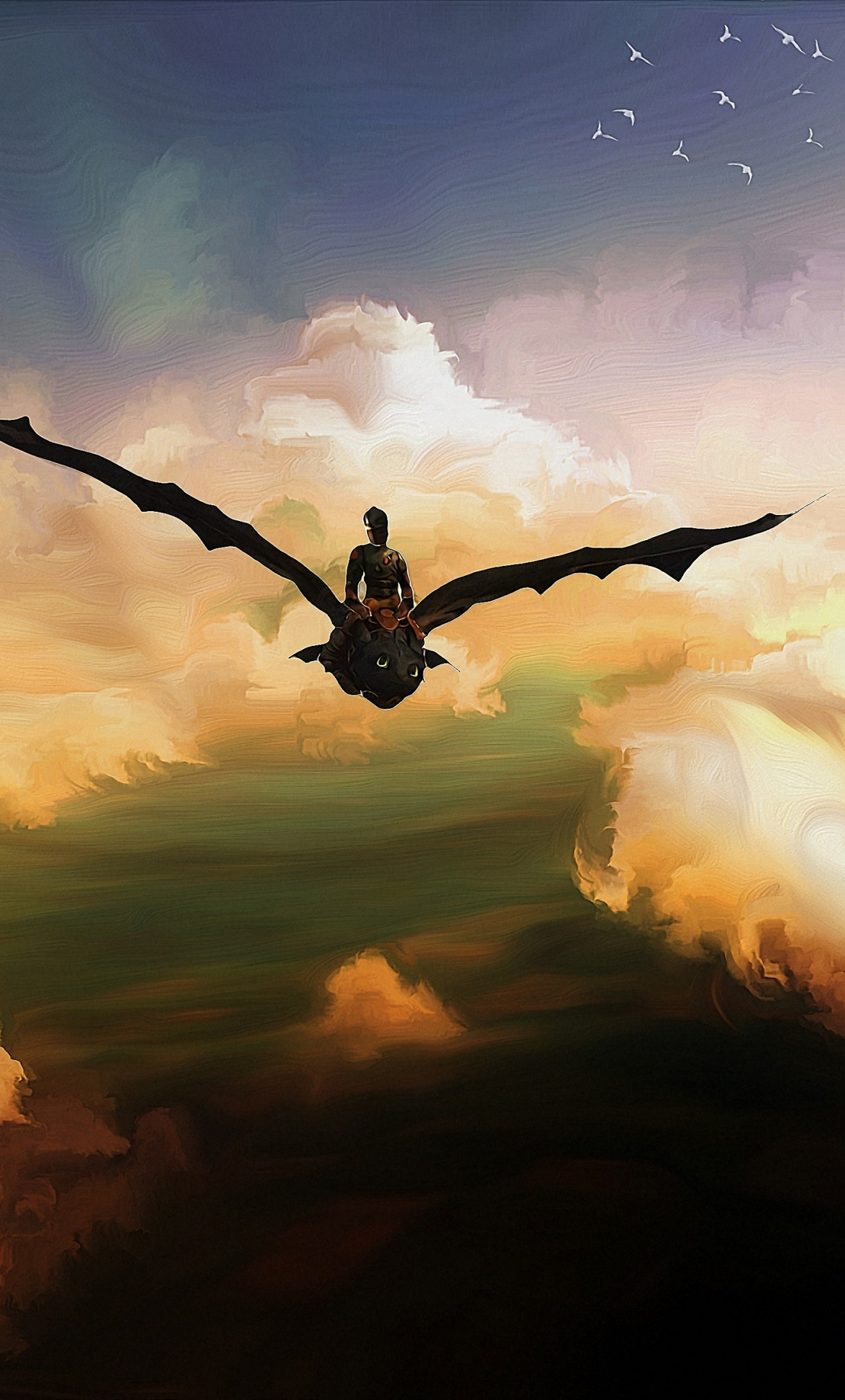 Download 1280x2120 Wallpaper Toothless How To Train Your Dragon