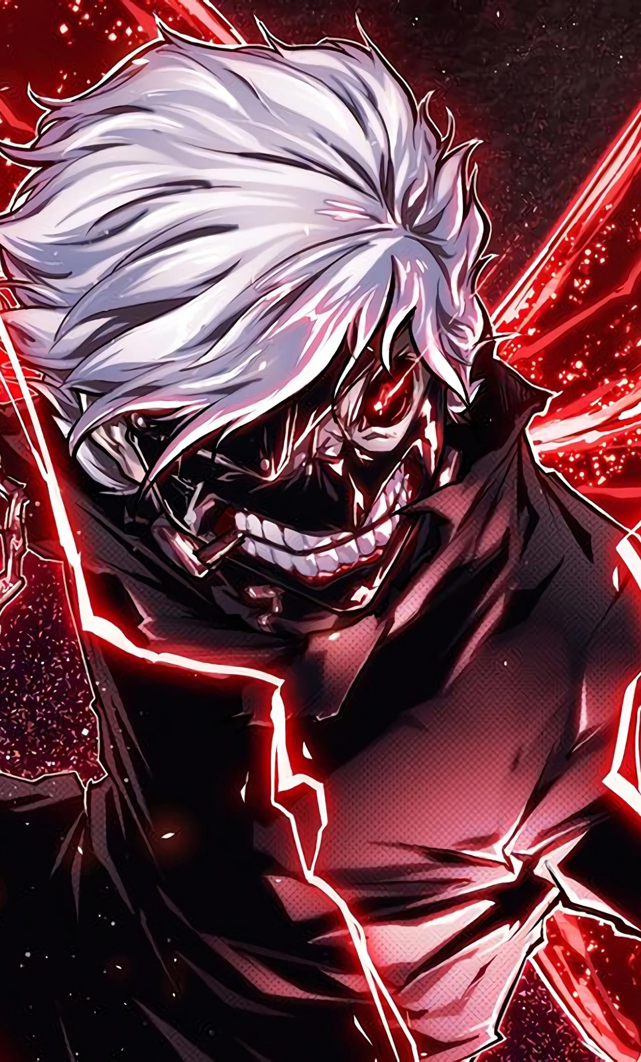Download 1280x2120 Wallpaper Ken Kaneki Angry Anime Boy