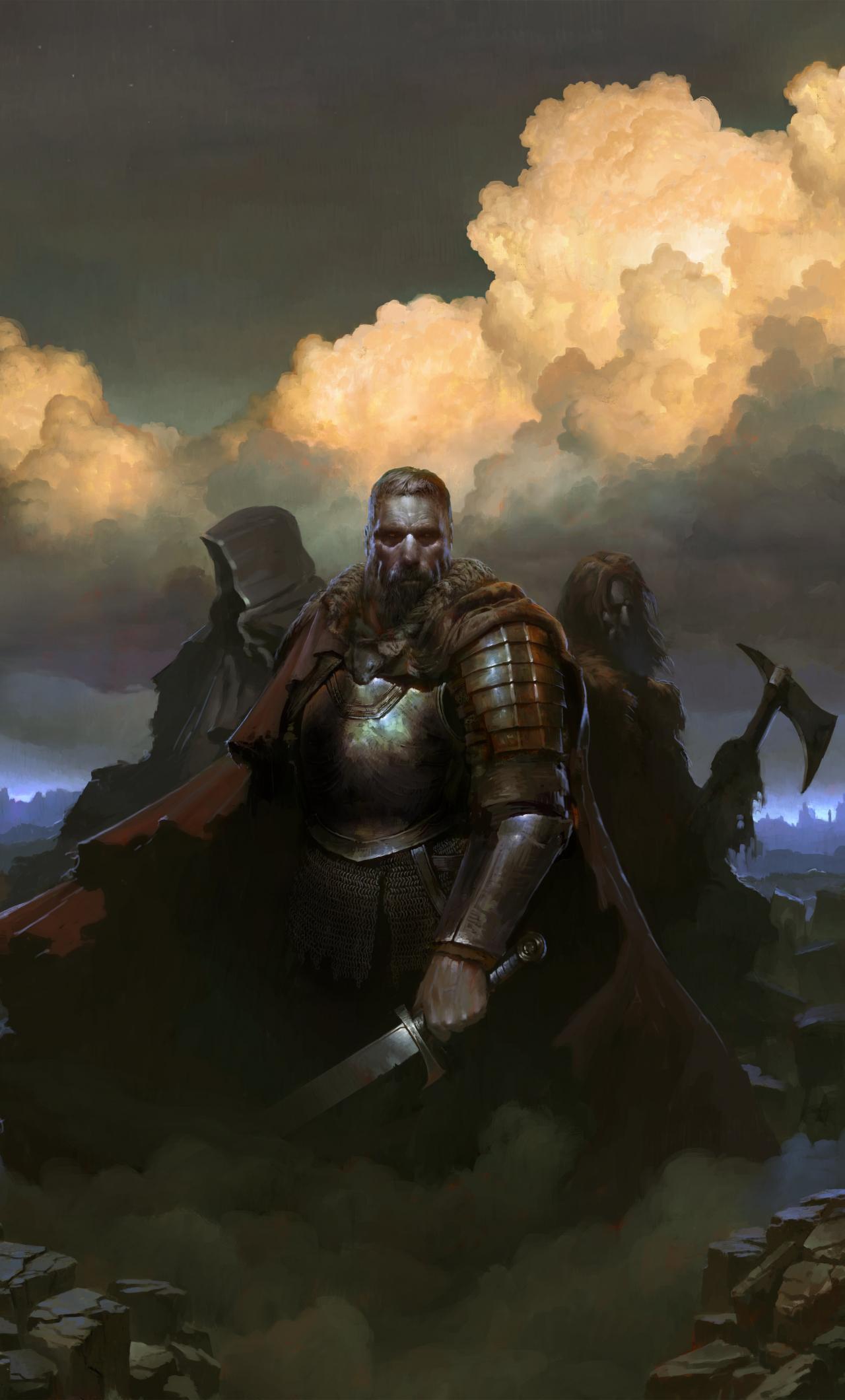 SpellForce 3, warriors, Video game, 1280x2120 wallpaper