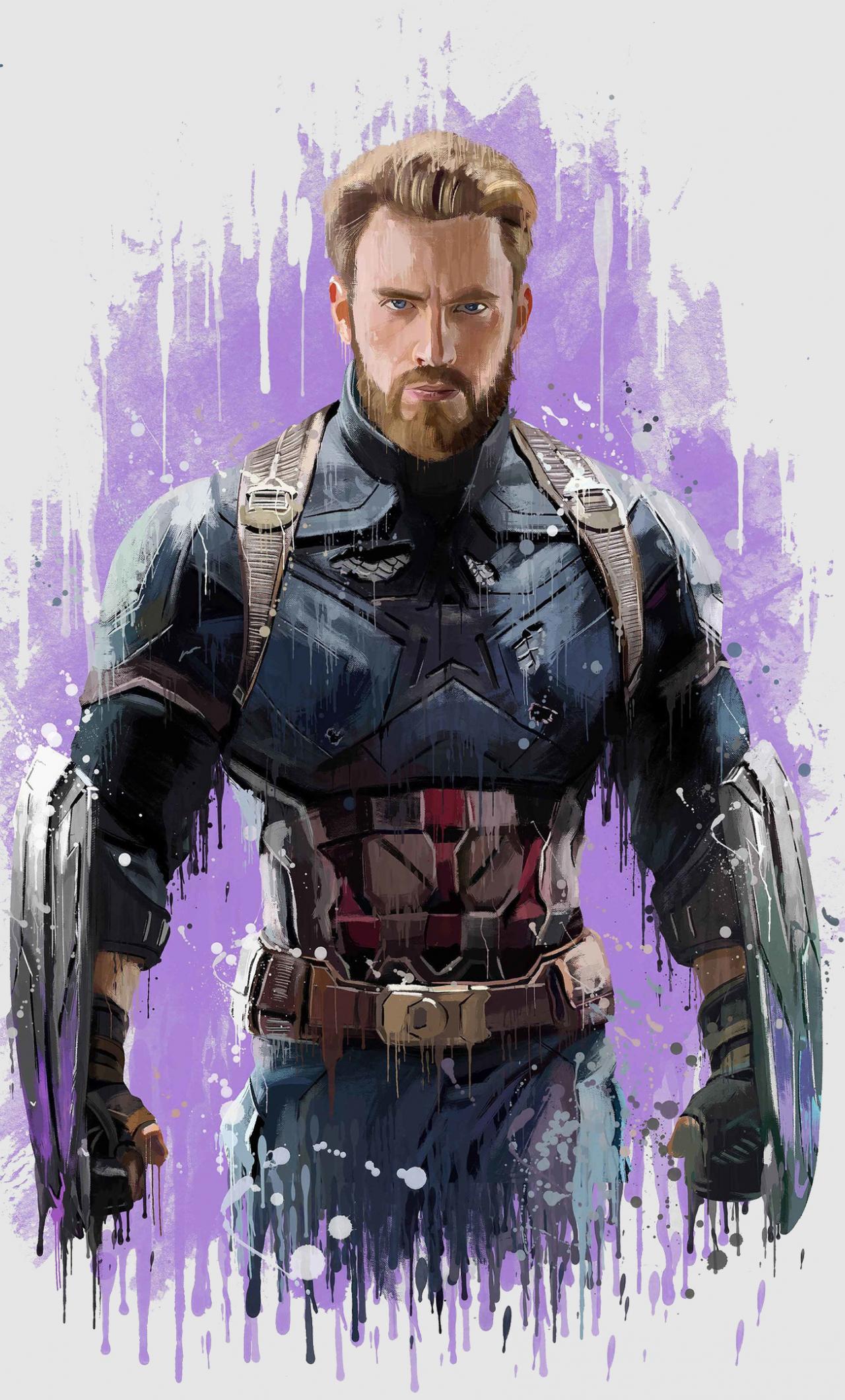 Download 1280x2120 Wallpaper Captain America Avengers Infinity War