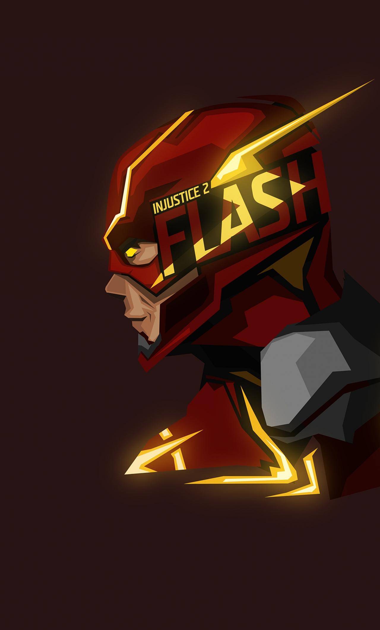 Download 1280x2120 Wallpaper Flash Headshot Art Iphone 6