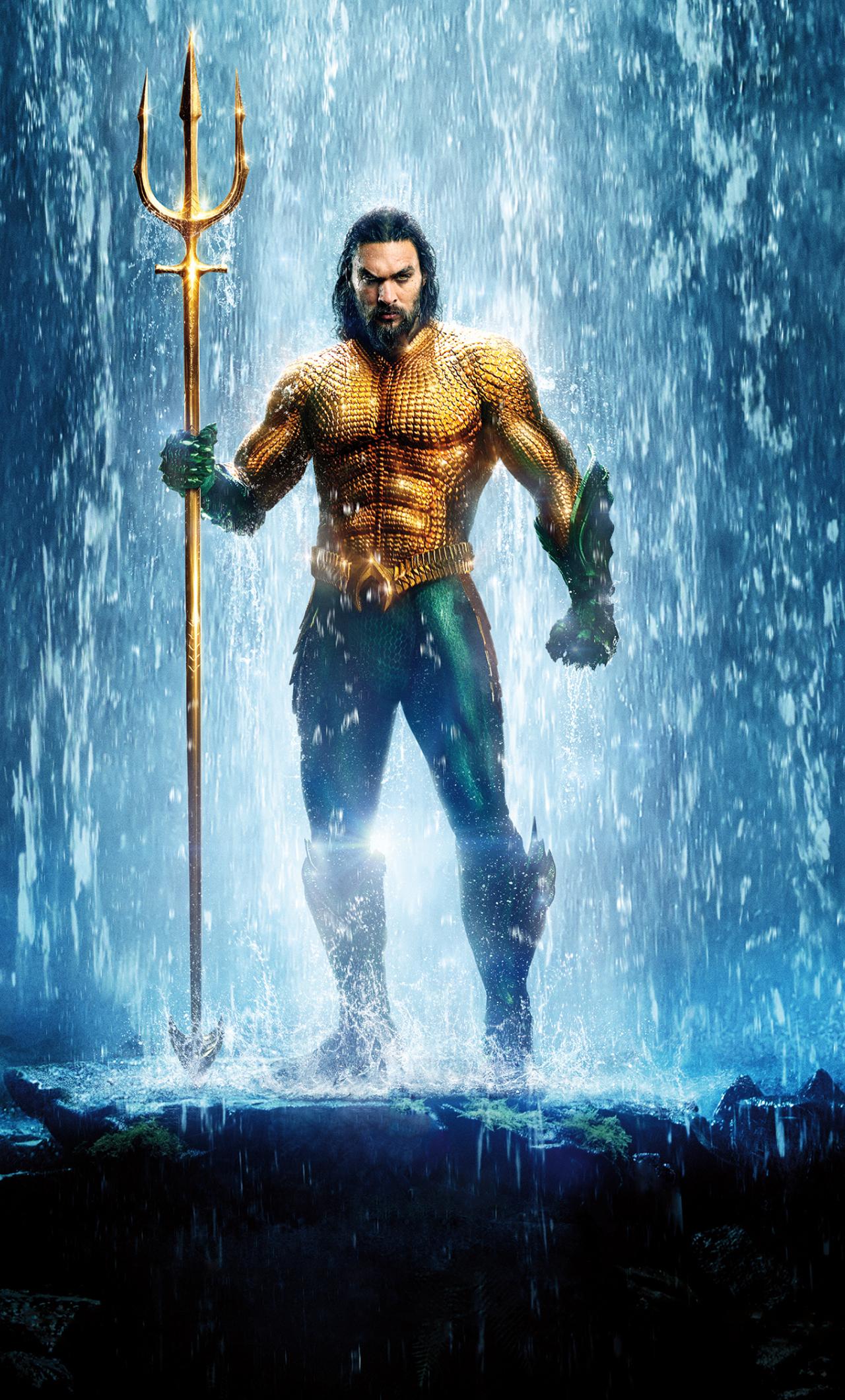 Download 1280x2120 Wallpaper Aquaman Jason Momoa Poster 2018