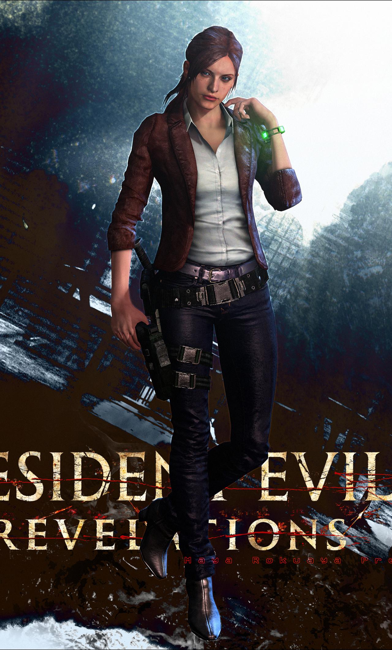 Download 1280x2120 Wallpaper Resident Evil 2 Girl Artwork