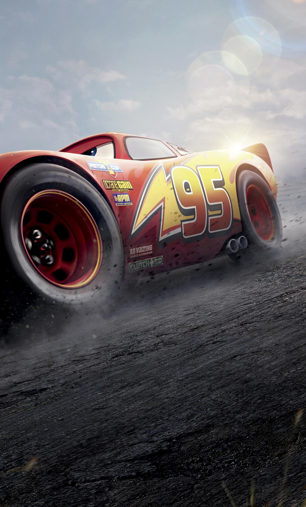 Download 1280x2120 Wallpaper Cars 3 Red Lightning Mcqueen