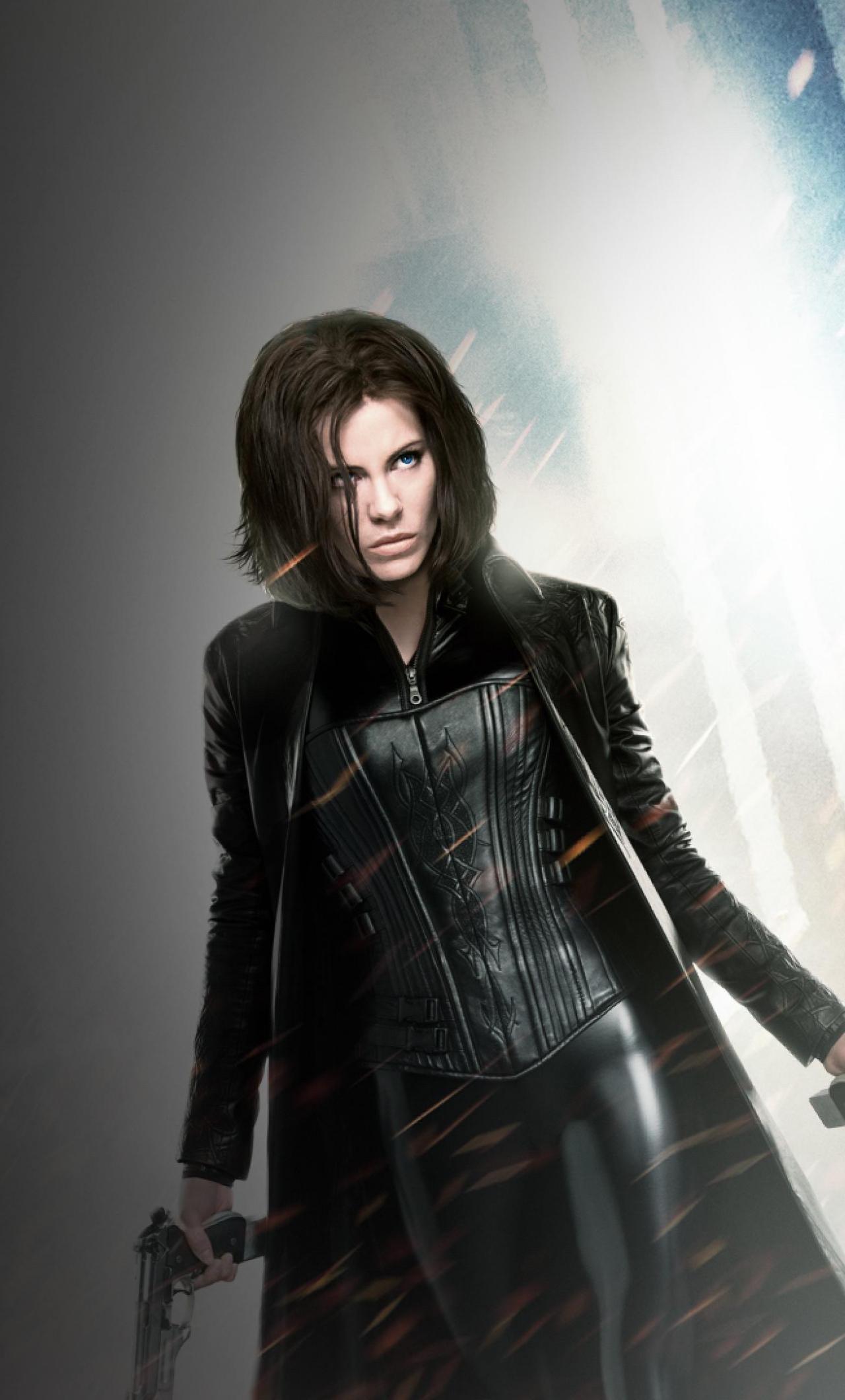 Vampire, Kate Beckinsale, Underworld, movie, 1280x2120 wallpaper